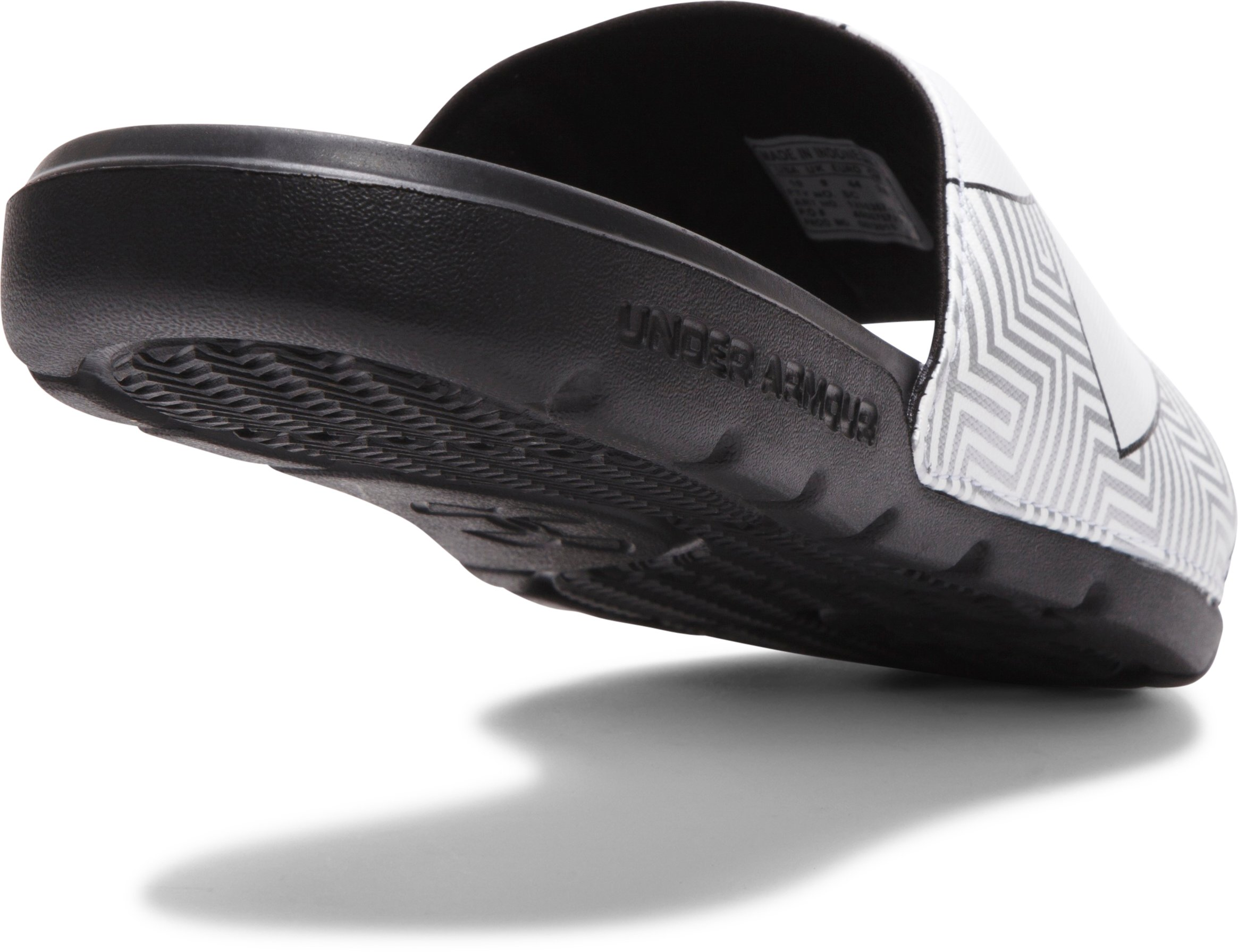 Men's UA Strike Optic Geo Sandals, Black , undefined