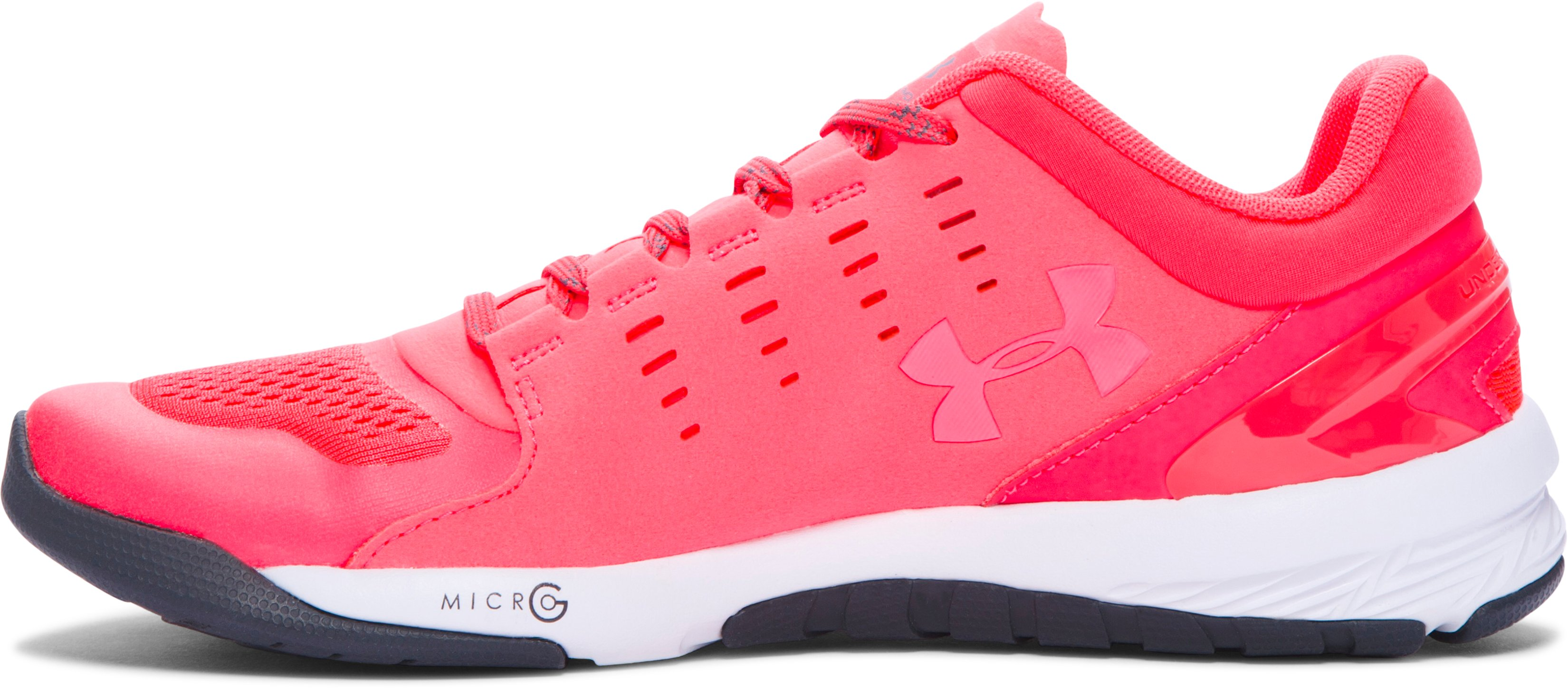 Women's UA Charged Stunner Training Shoes, PINK CHROMA,