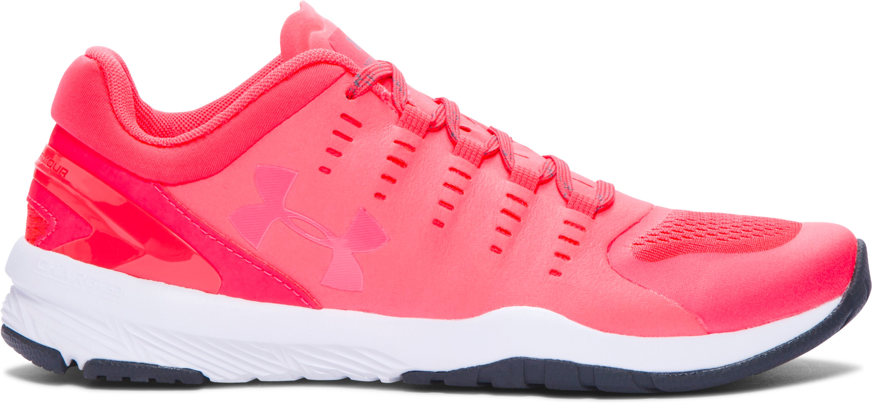 Women's UA Charged Stunner Training Shoes, PINK CHROMA, zoomed image