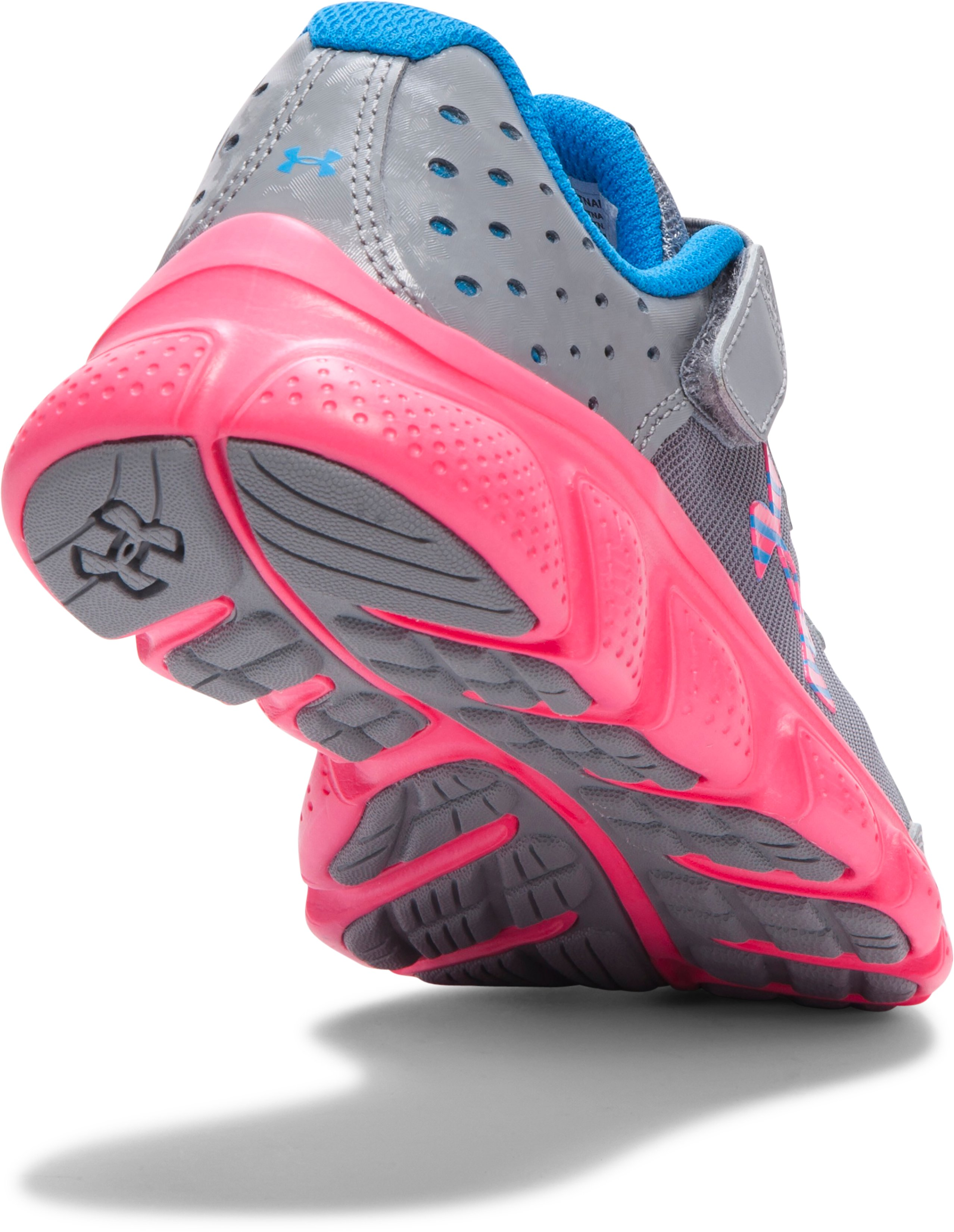 Girls' Pre-School UA Assert 6 AC Running Shoes, Steel