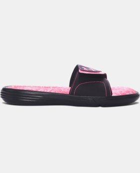 Women's UA Power in Pink® Ignite VII Slides LIMITED TIME: FREE U.S. SHIPPING  $34.99