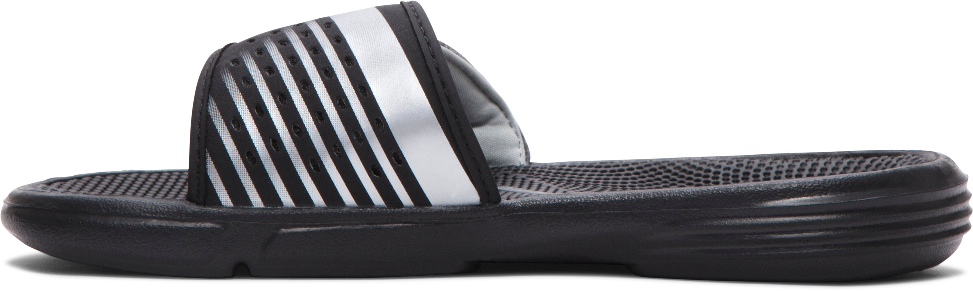 Women's UA Micro G® EV II Slides, Black , undefined