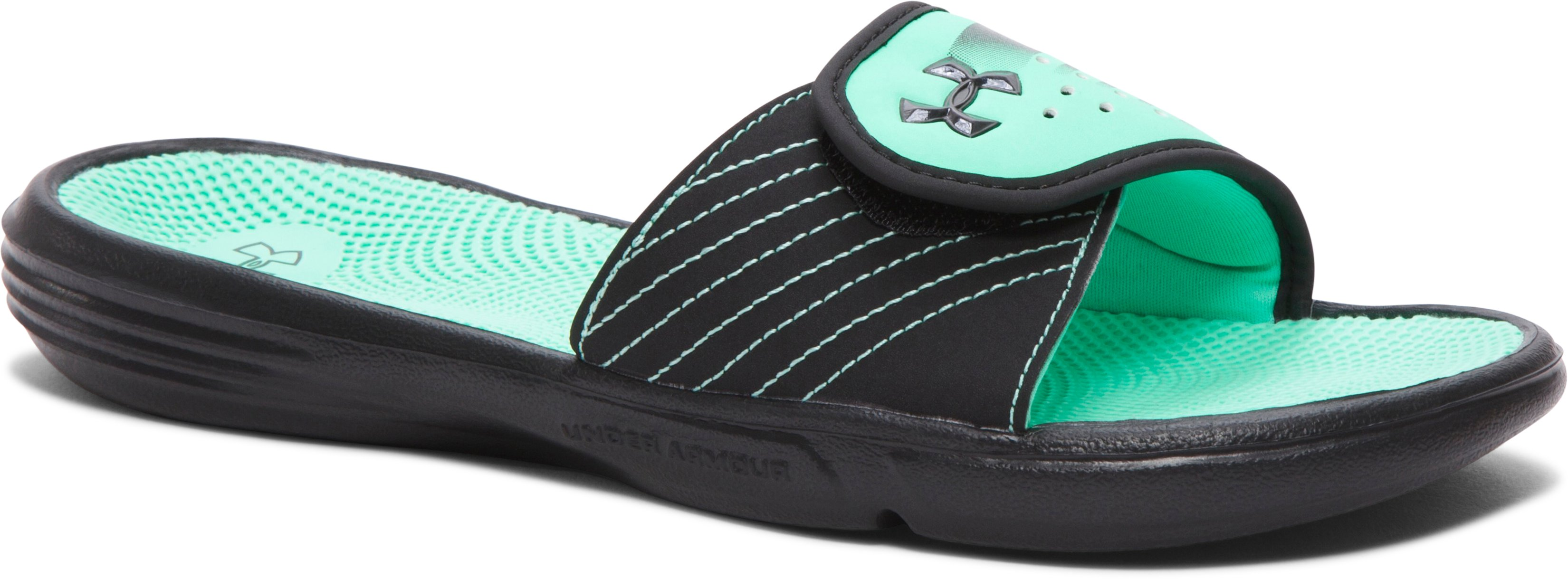 Women's UA Micro G® EV II Slides, Black ,