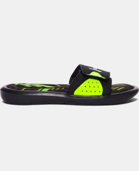 Boys' UA Ignite Banshee II Slides  8 Colors $31.99