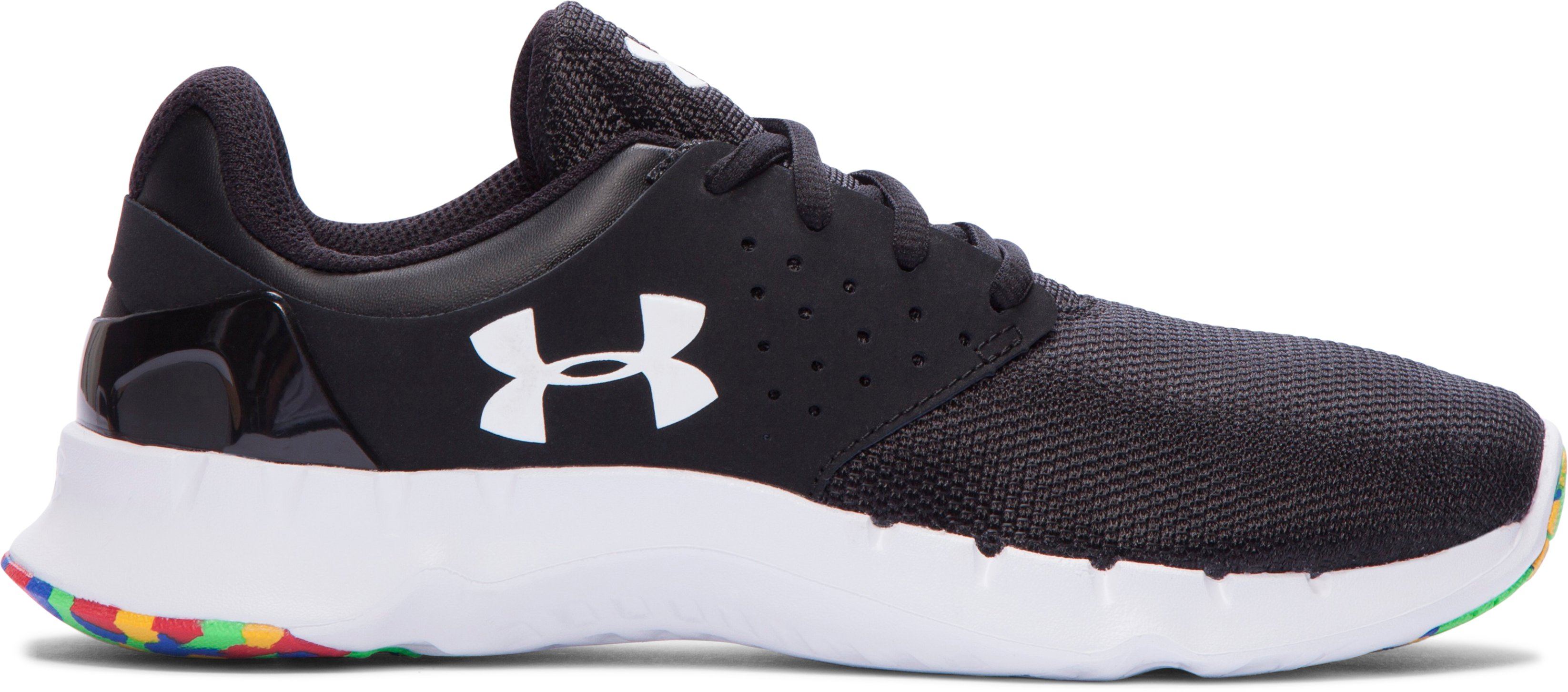 Boys' Grade School UA Flow R2R Running Shoes, Black , zoomed image