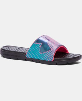New Arrival Girls' UA Strike Ombre Slides  2 Colors $19.99