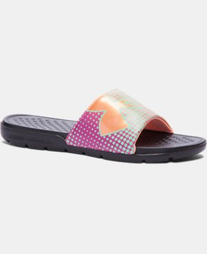 New Arrival Girls' UA Strike Ombre Slides  1 Color $19.99