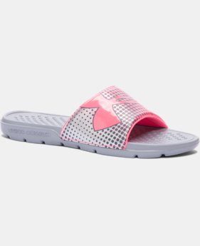 New Arrival Girls' UA Strike Ombre Slides   $19.99