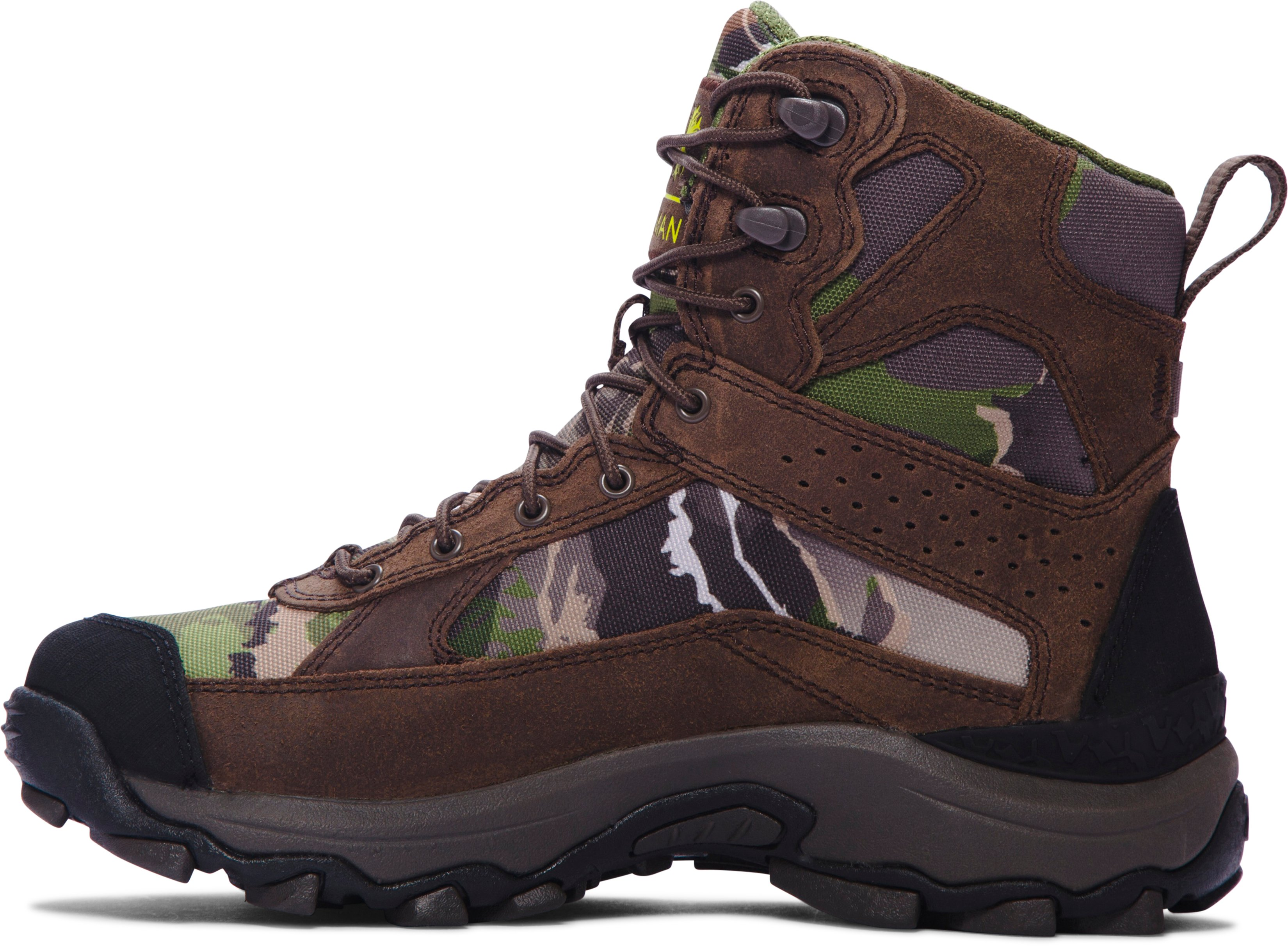 Boys' UA Speed Freek Bozeman Hunting Boots, RIDGE REAPER® FOREST,