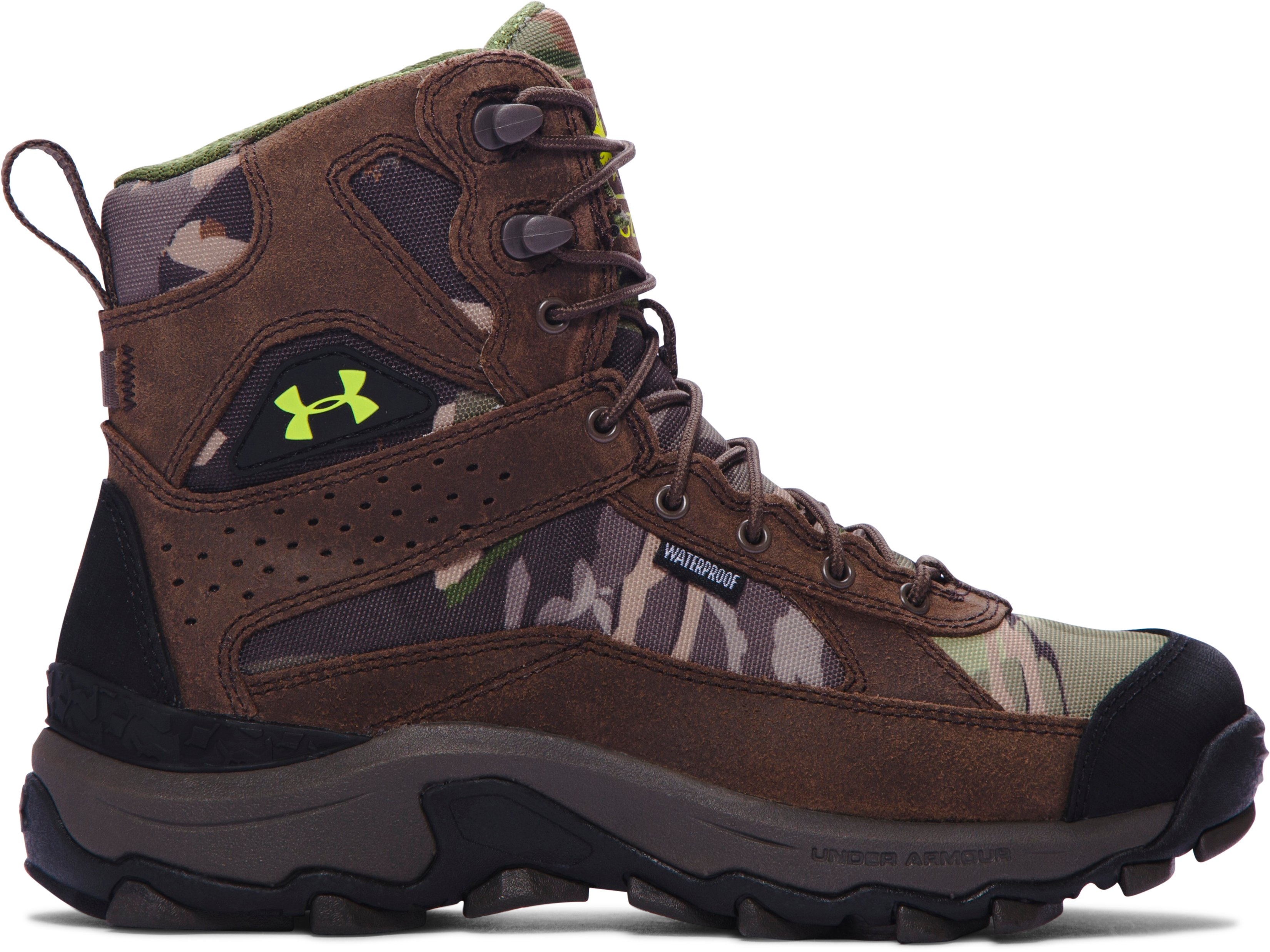 Boys' UA Speed Freek Bozeman Hunting Boots, RIDGE REAPER® FOREST