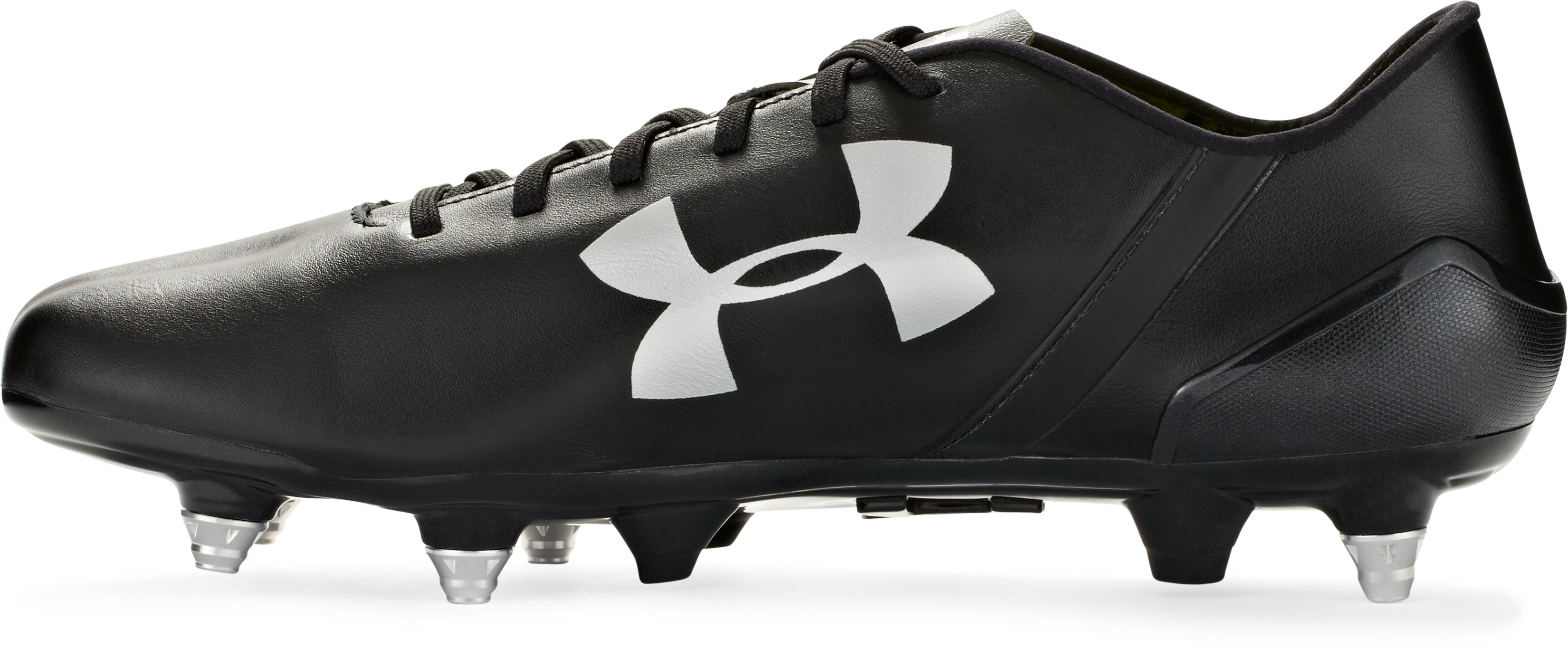 Men's UA SpeedForm® CRM LTHR Soccer Cleats, Black , undefined