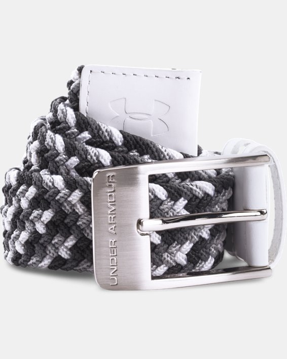 Men's UA Braided Belt, White, pdpMainDesktop image number 0