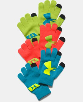 Boys' UA Chillz Neon Gloves 3-pack  1 Color $22.99