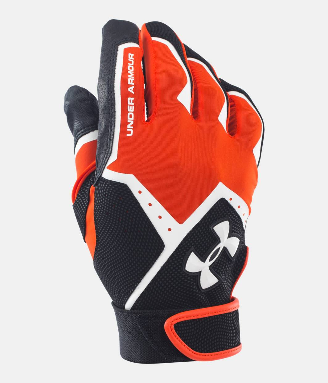 Mens sizes in gloves - Men S Ua Clean Up Vi Batting Gloves Dark Orange Zoomed Image