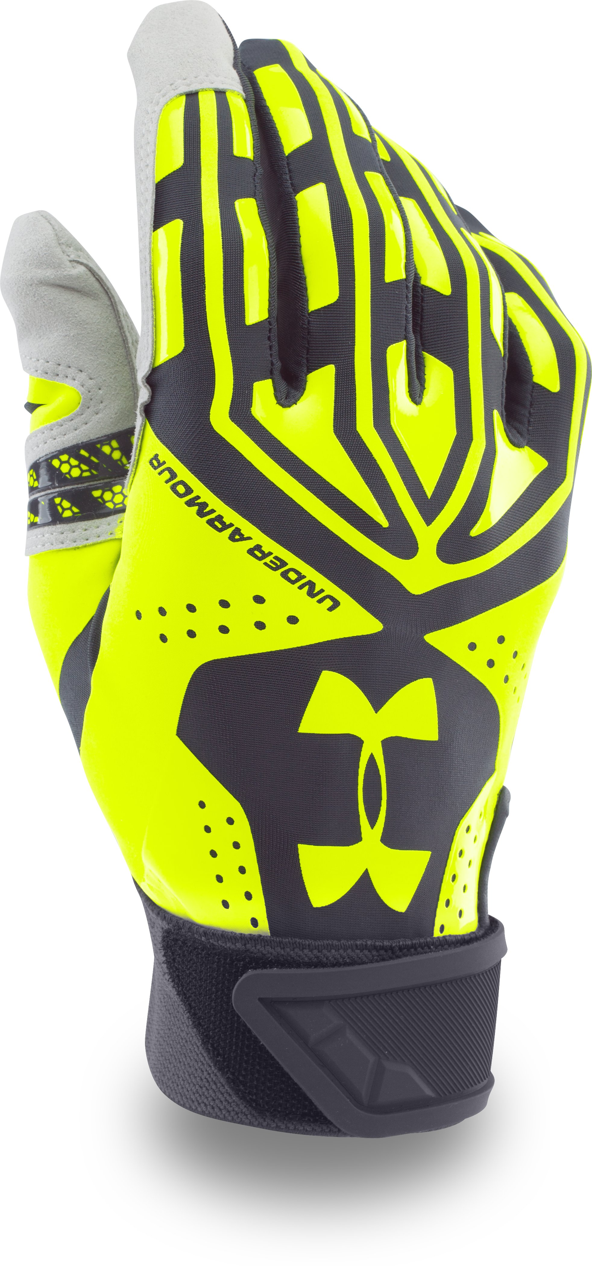 Men's UA Motive Batting Gloves, STEALTH GRAY