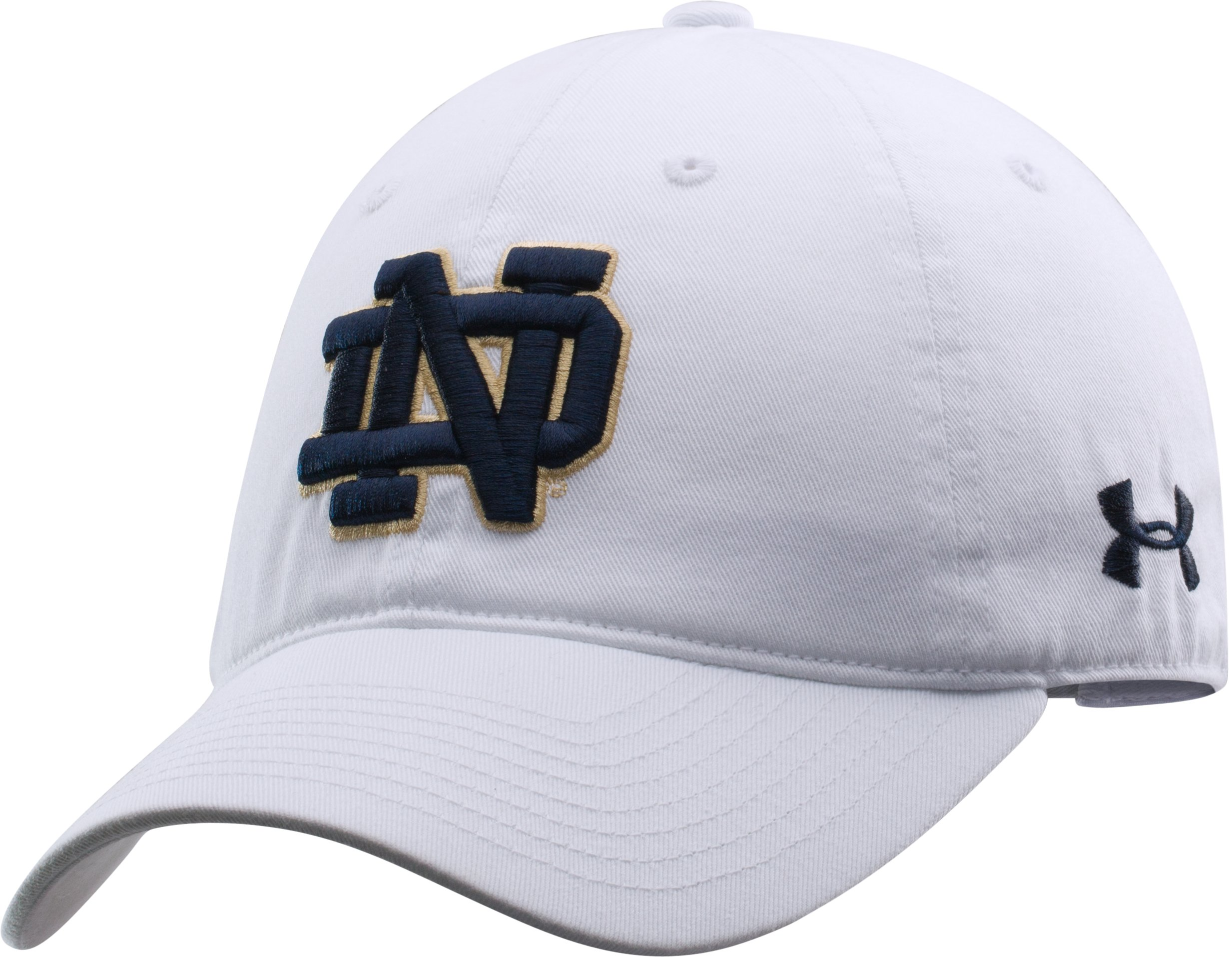 Women's Notre Dame Under Armour® Legacy Cap, White, undefined