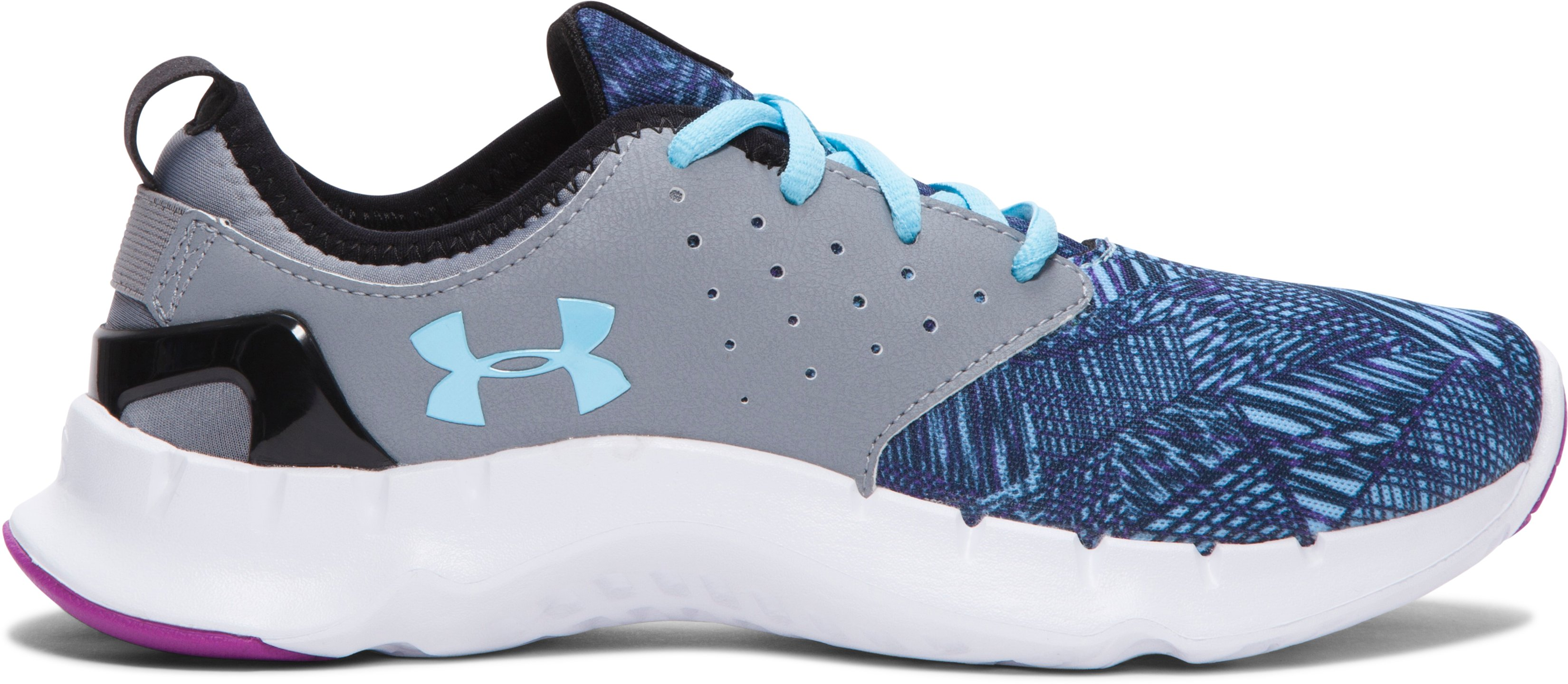 Women's UA Flow Criss Cross Running Shoes, Steel, zoomed image