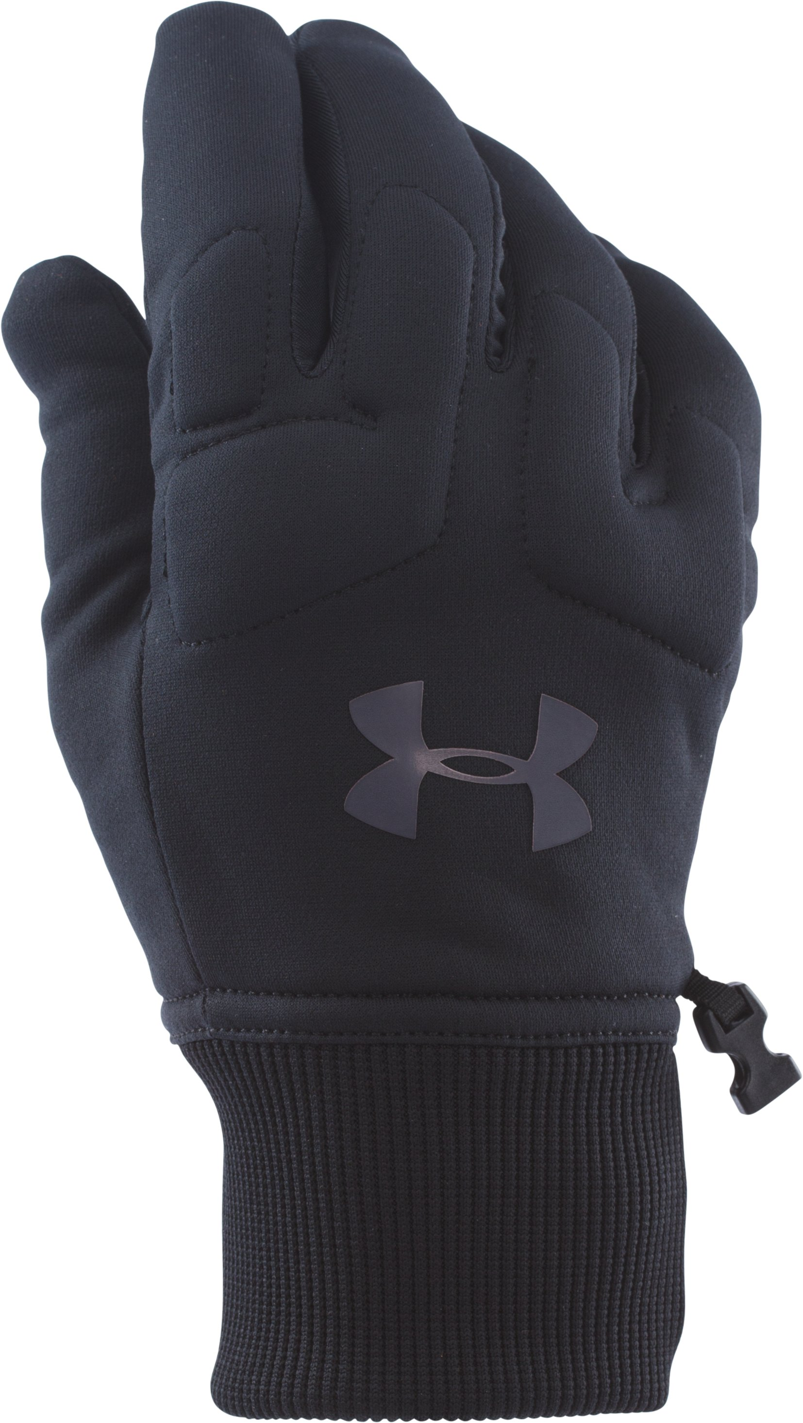 Men's UA ColdGear® Infrared Armour® Fleece Gloves, Black , undefined