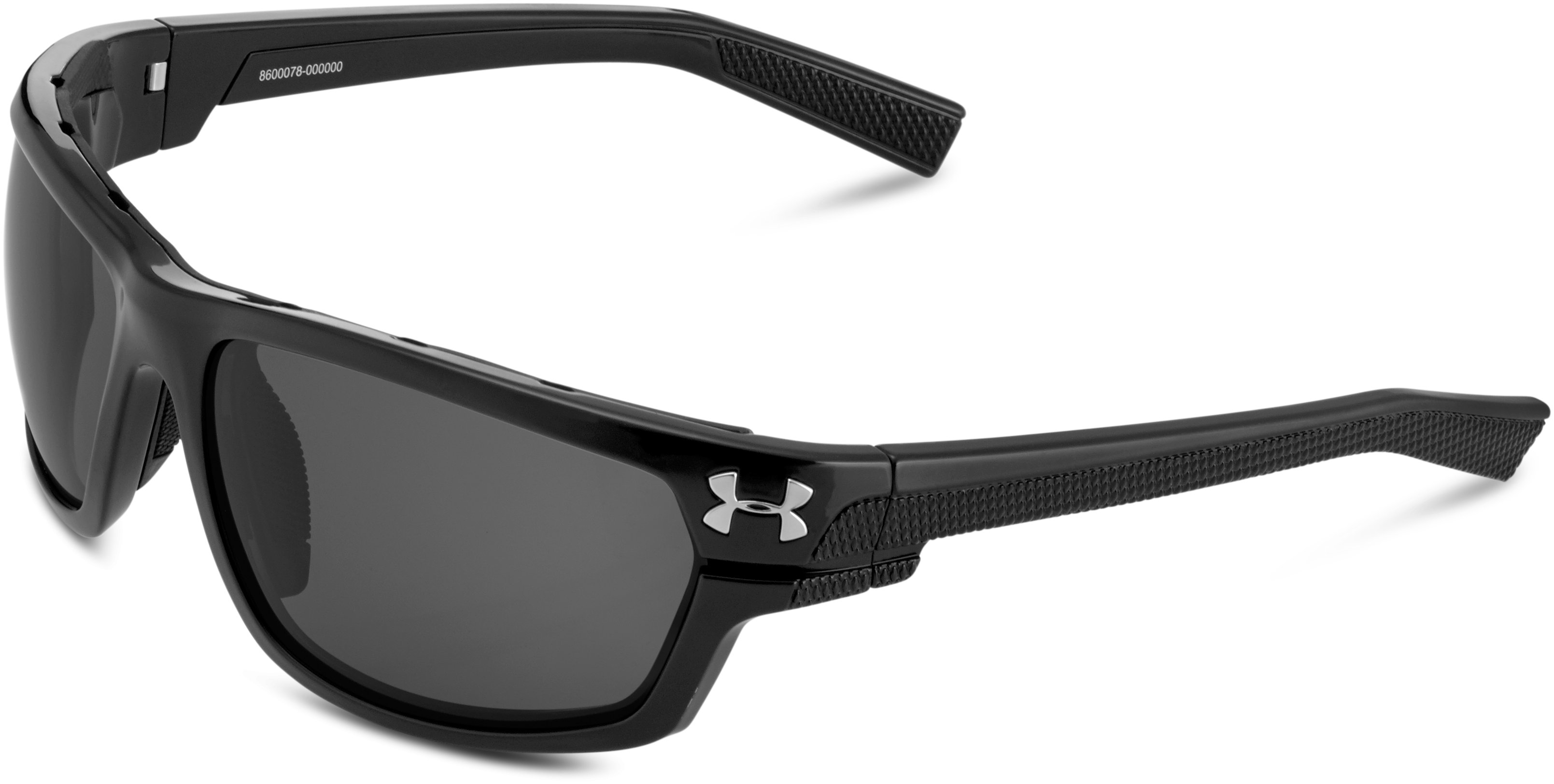 UA Hook'd Storm Polarized Sunglasses, Satin Black, zoomed image