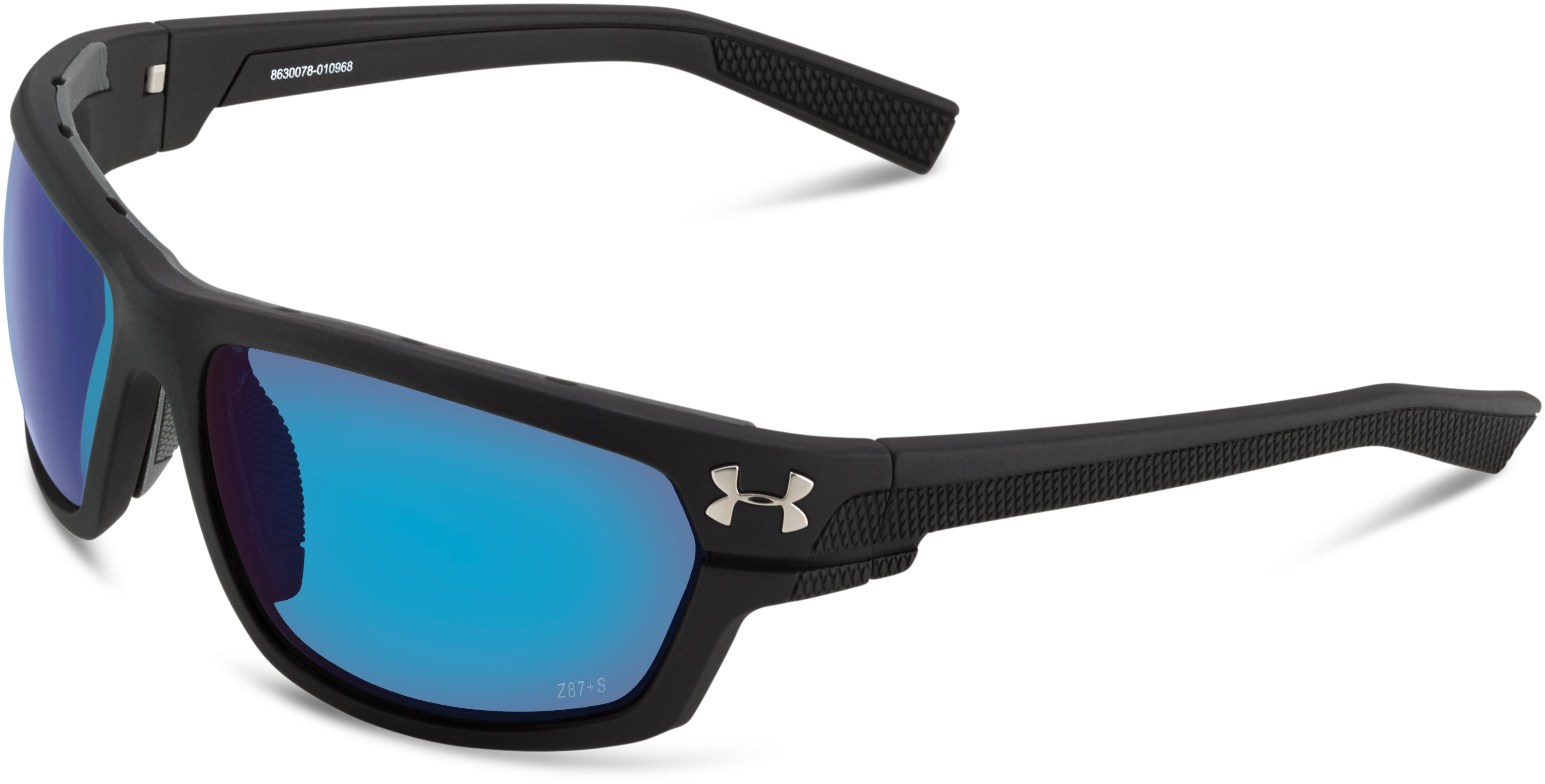 UA Hook'd Storm Polarized Sunglasses, Satin Black, undefined