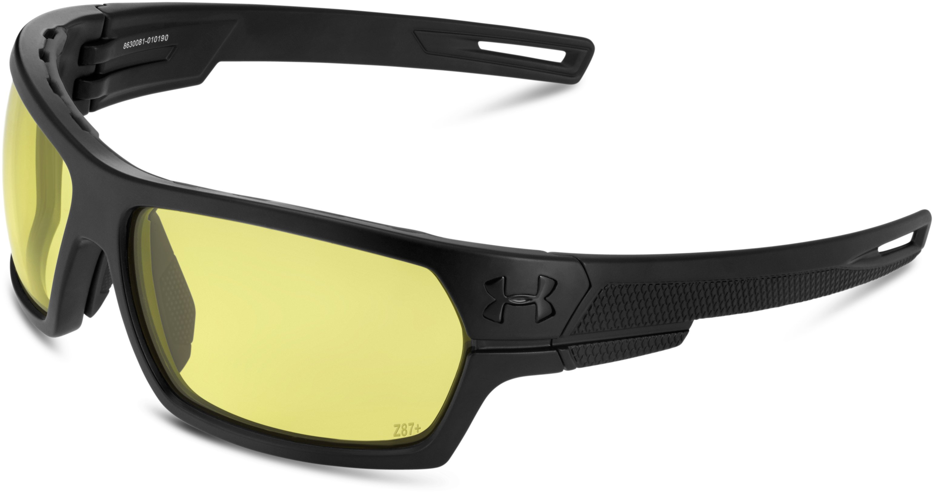 UA Battlewrap Sunglasses, Satin Black, zoomed image