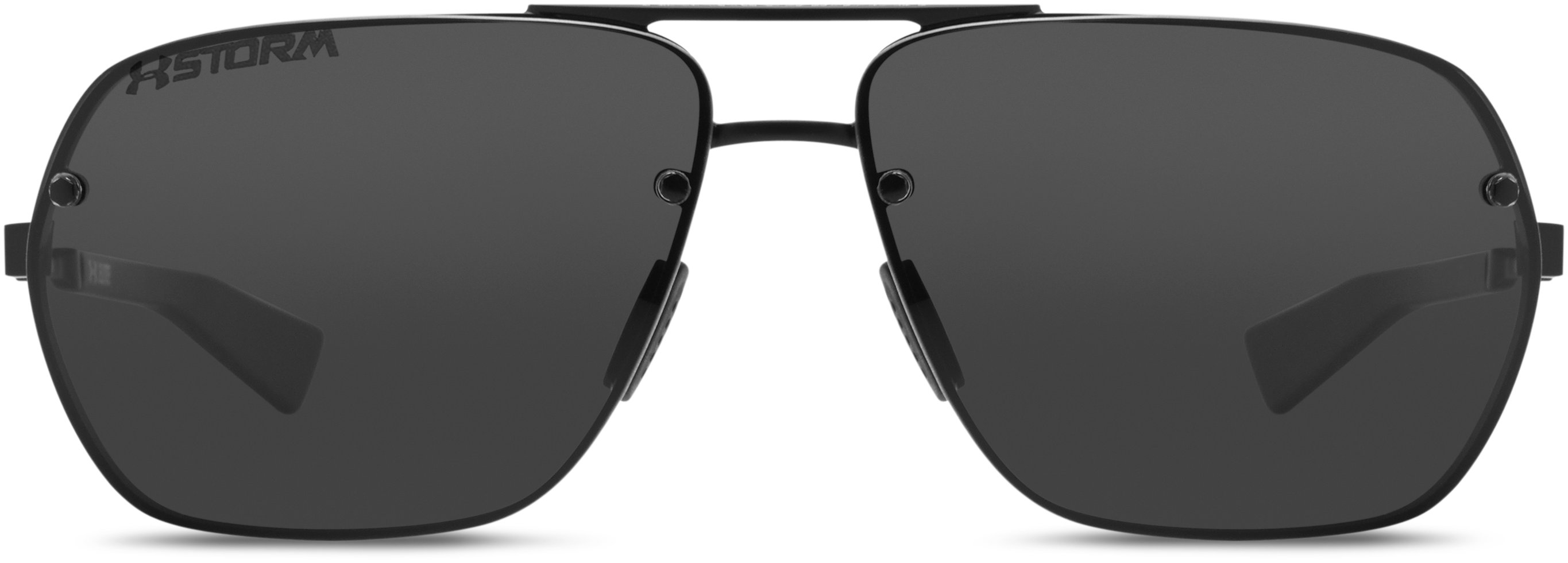 UA Hi-Roll Storm Polarized Sunglasses, Satin Black, undefined