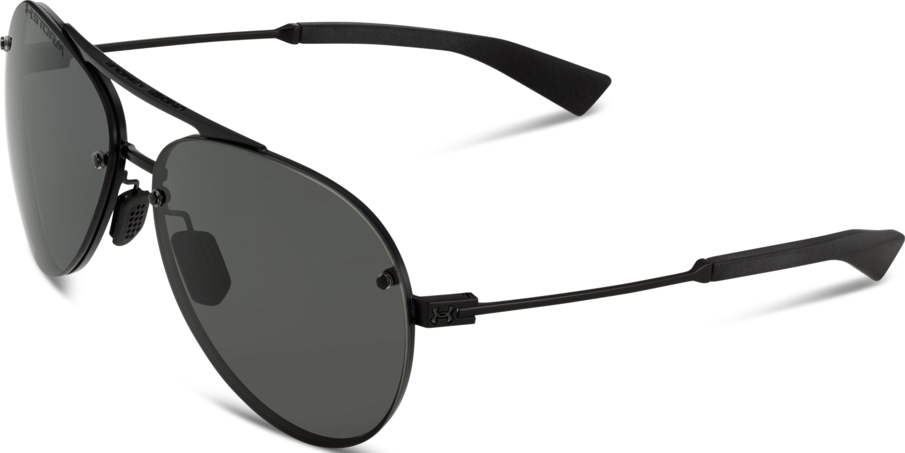 UA Double Down Storm Polarized Sunglasses, Satin Black,