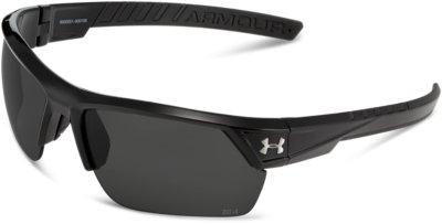 FREE SHIP Under Armour UA Igniter 2.0 Shiny Black Gray Lens Sunglasses $90 NEW
