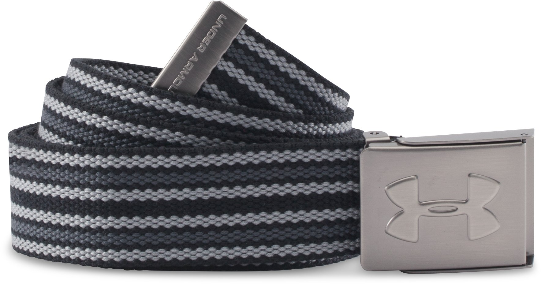 Men's UA Webbed Belt - 3 Pack, Black , zoomed image