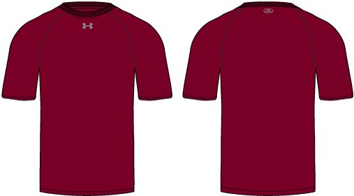 UA Locker T SS, Maroon, zoomed