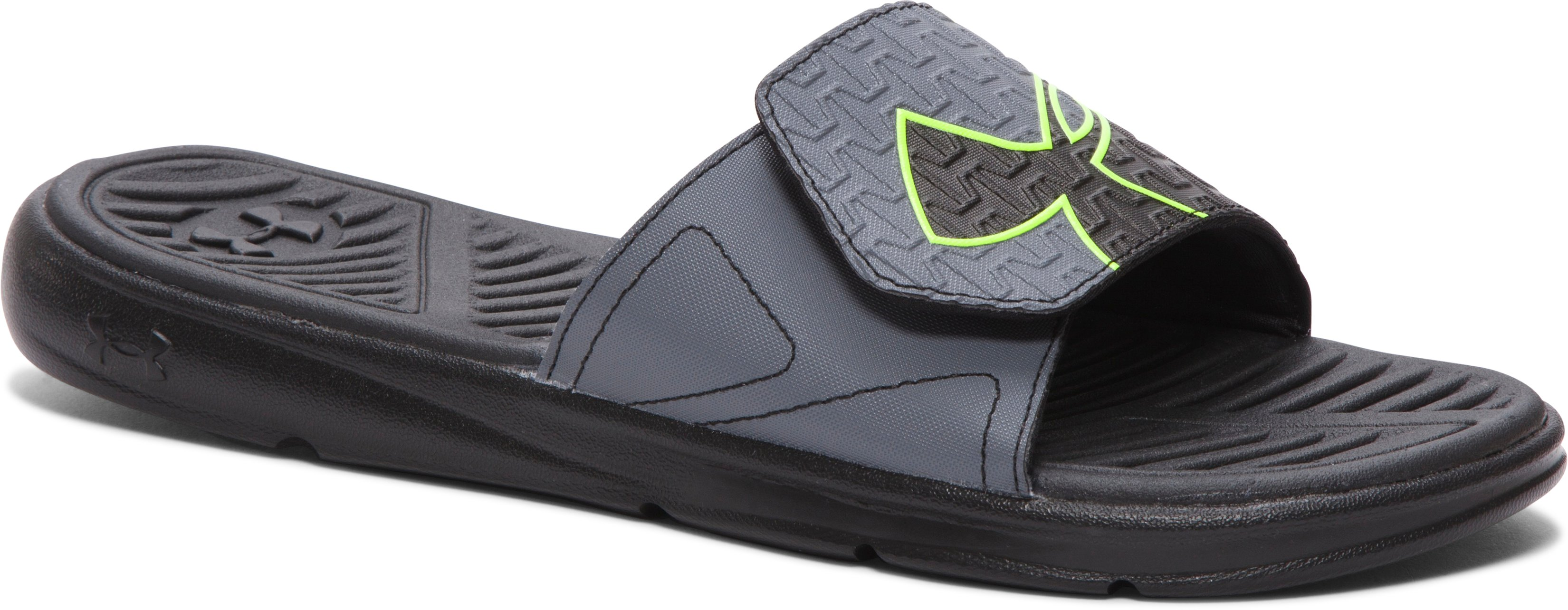 Men's UA ClutchFit™ Force Slides, Black