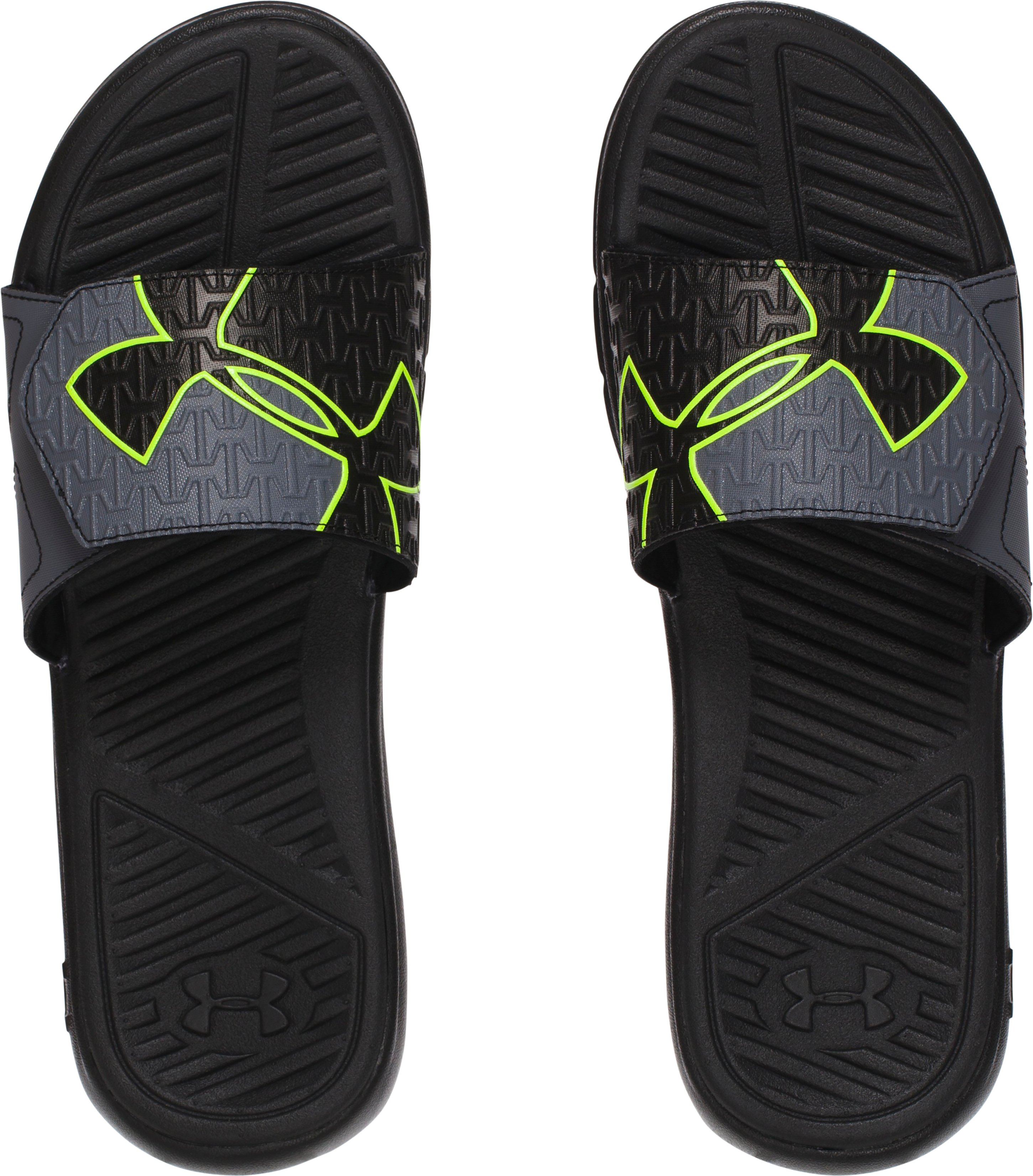 Men's UA ClutchFit™ Force Slides, Black ,