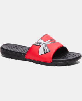 New Arrival Boys' UA Strike Checkboard Slides   $19.99