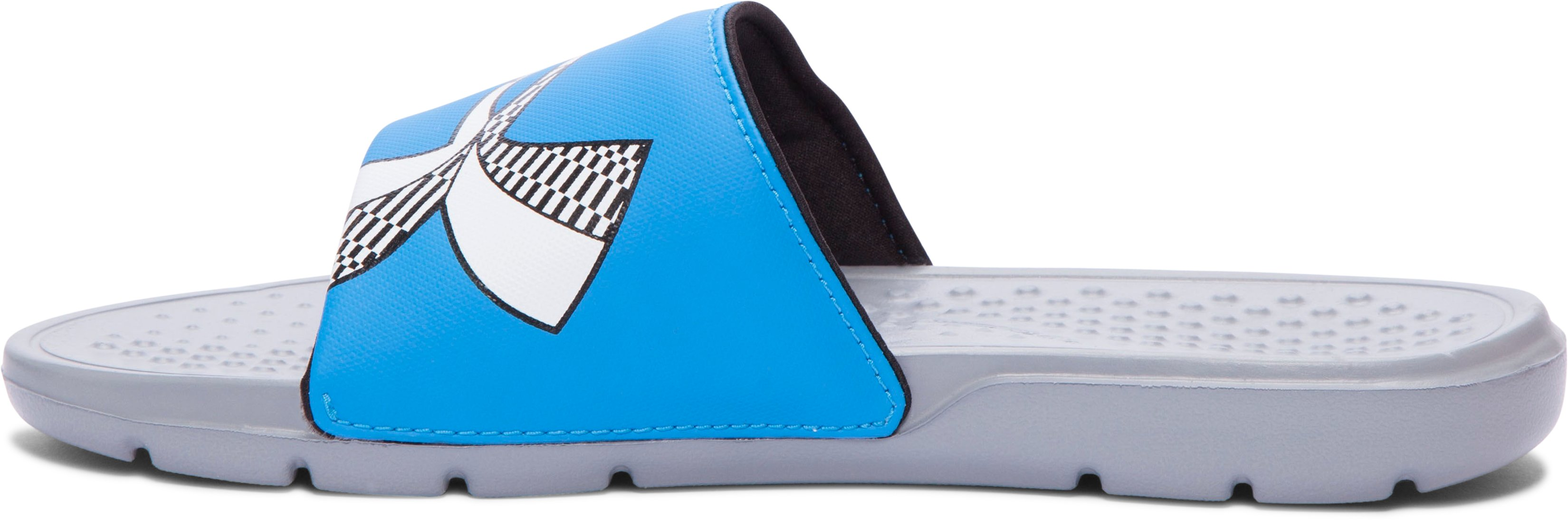 Boys' UA Strike Checkboard Slides, Steel