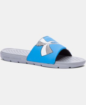 Boys' UA Strike Checkboard Slides LIMITED TIME: FREE SHIPPING  $14.24 to $18.99