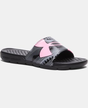 Girls' UA Strike Geo Slides  3 Colors $19.99