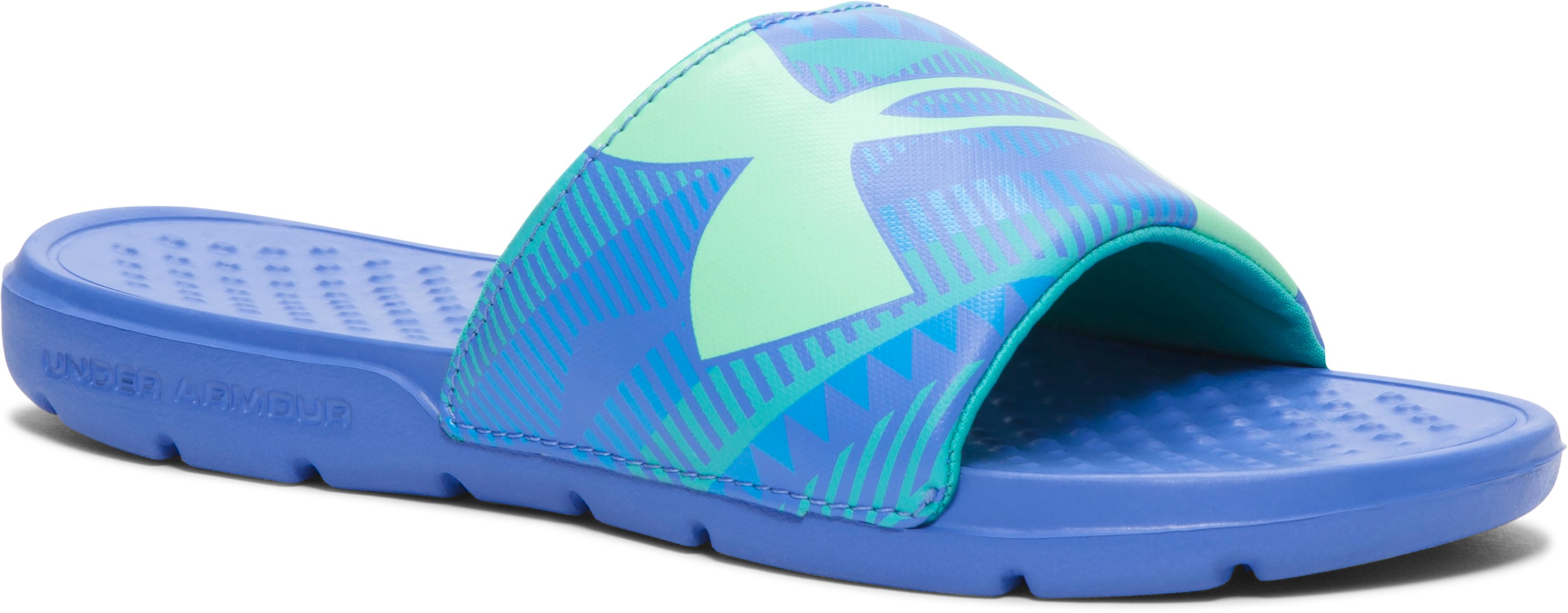 Girls' UA Strike Geo Slides, Mirror