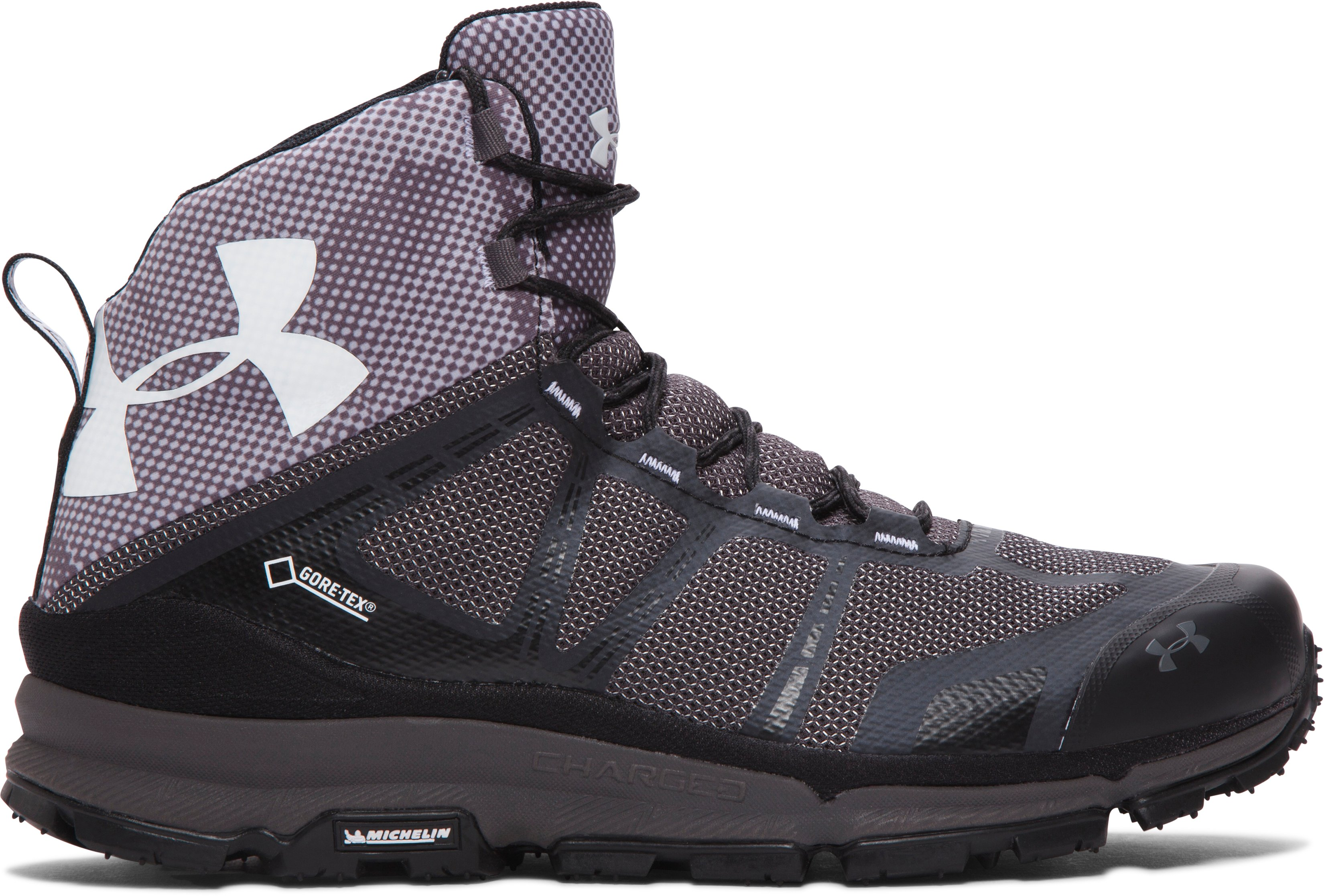 Men's UA Verge Mid GTX Hiking Boots, Black ,