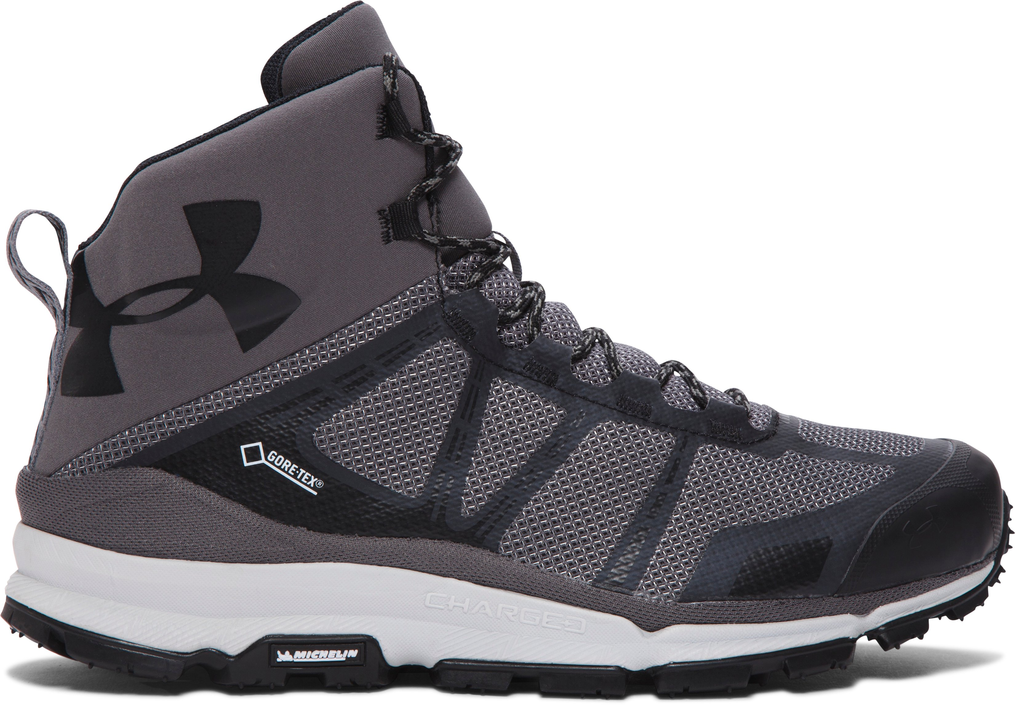 Men's UA Verge Mid GTX Hiking Boots, Graphite, undefined