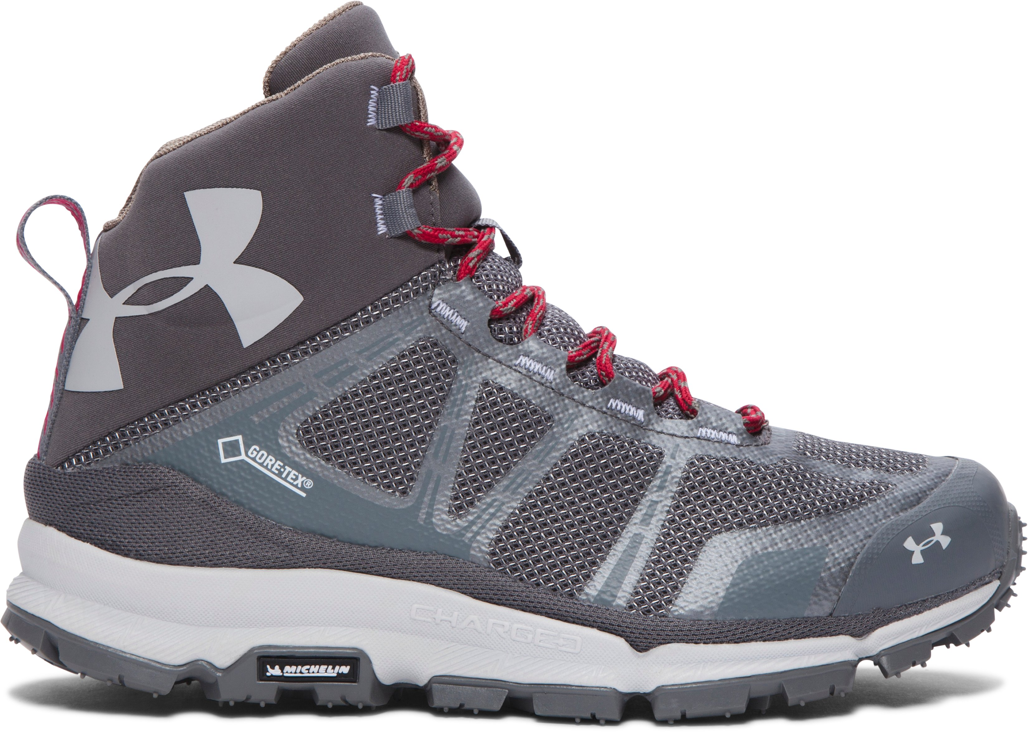 Women's UA Verge Mid GTX Hiking Boots, Graphite, zoomed image