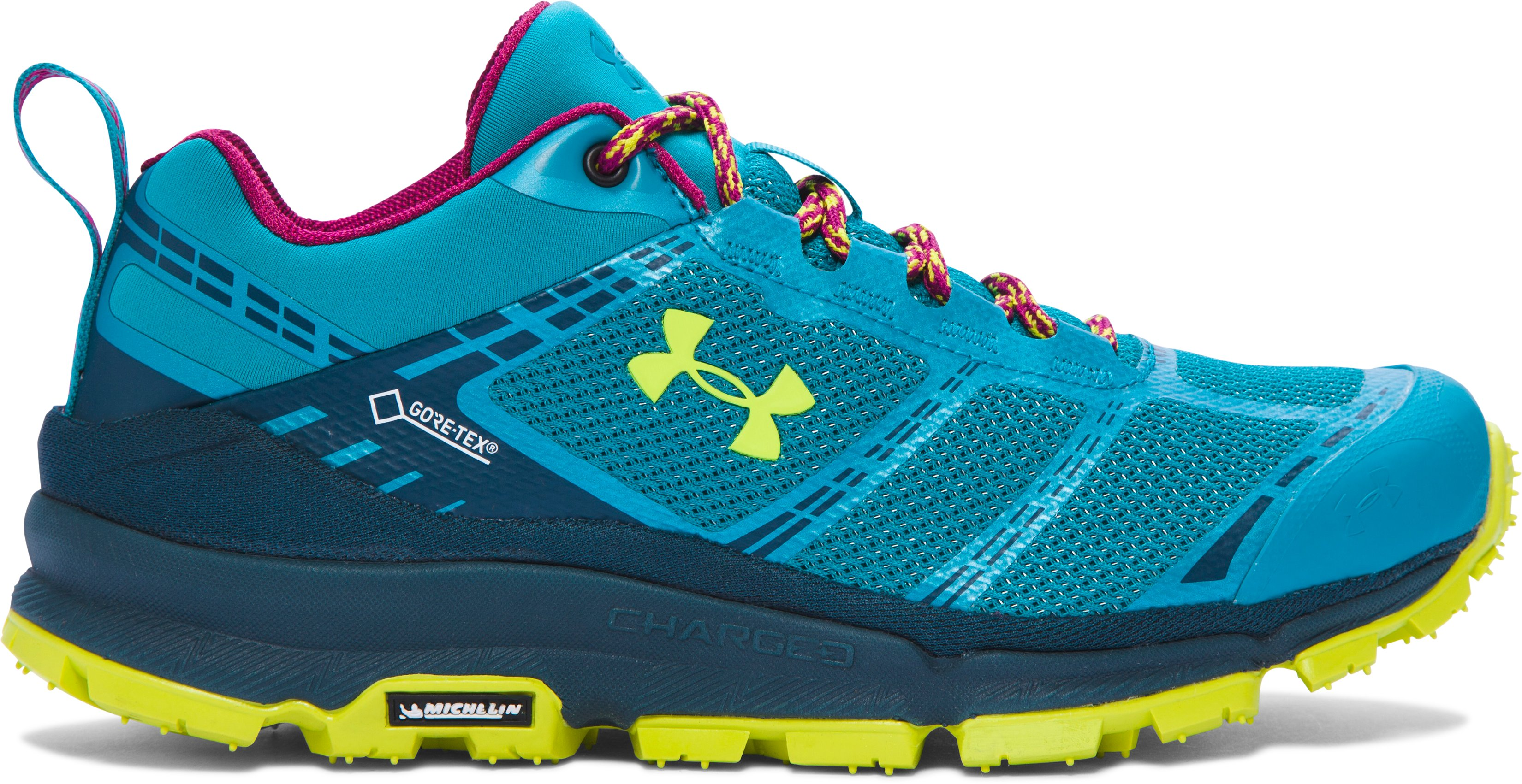 Women's UA Verge Low GTX Boots, SUBTROPICAL TEAL