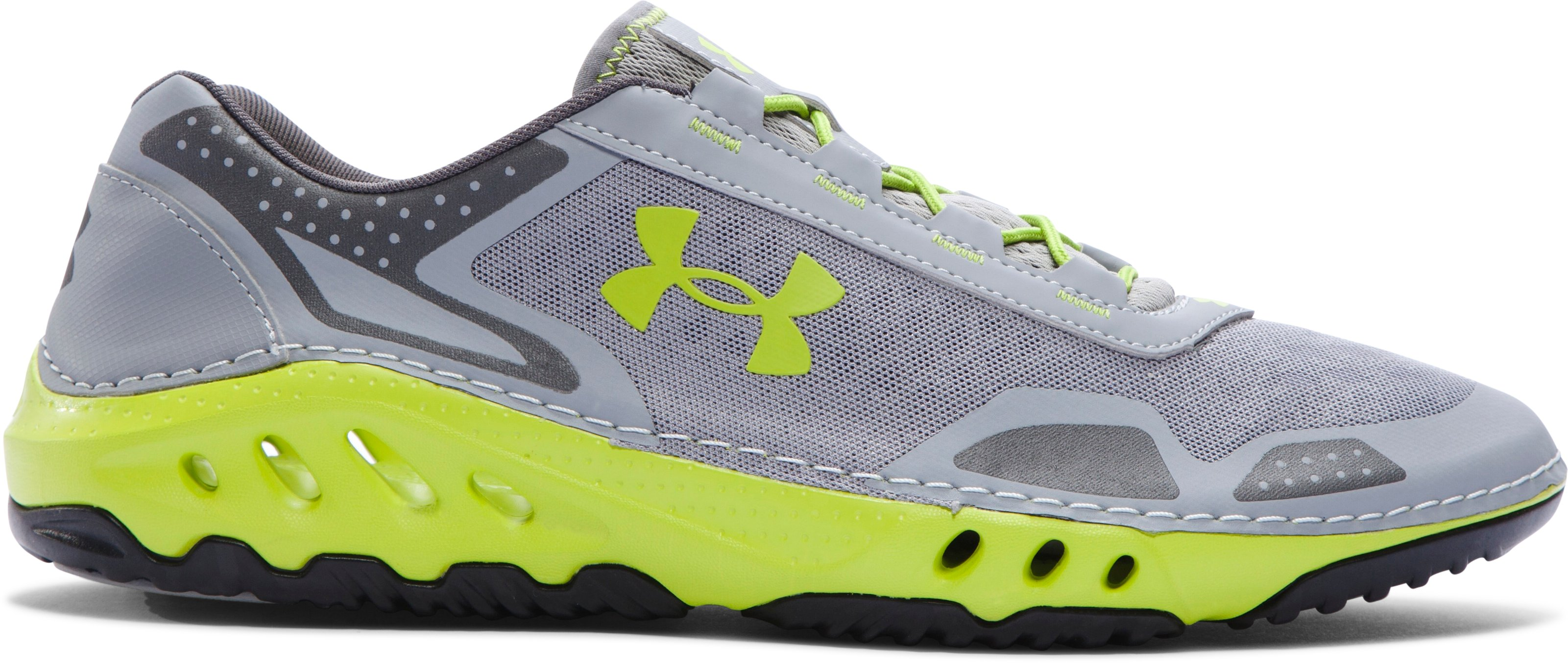 Men's UA Drainster Shoes, Steel, zoomed image