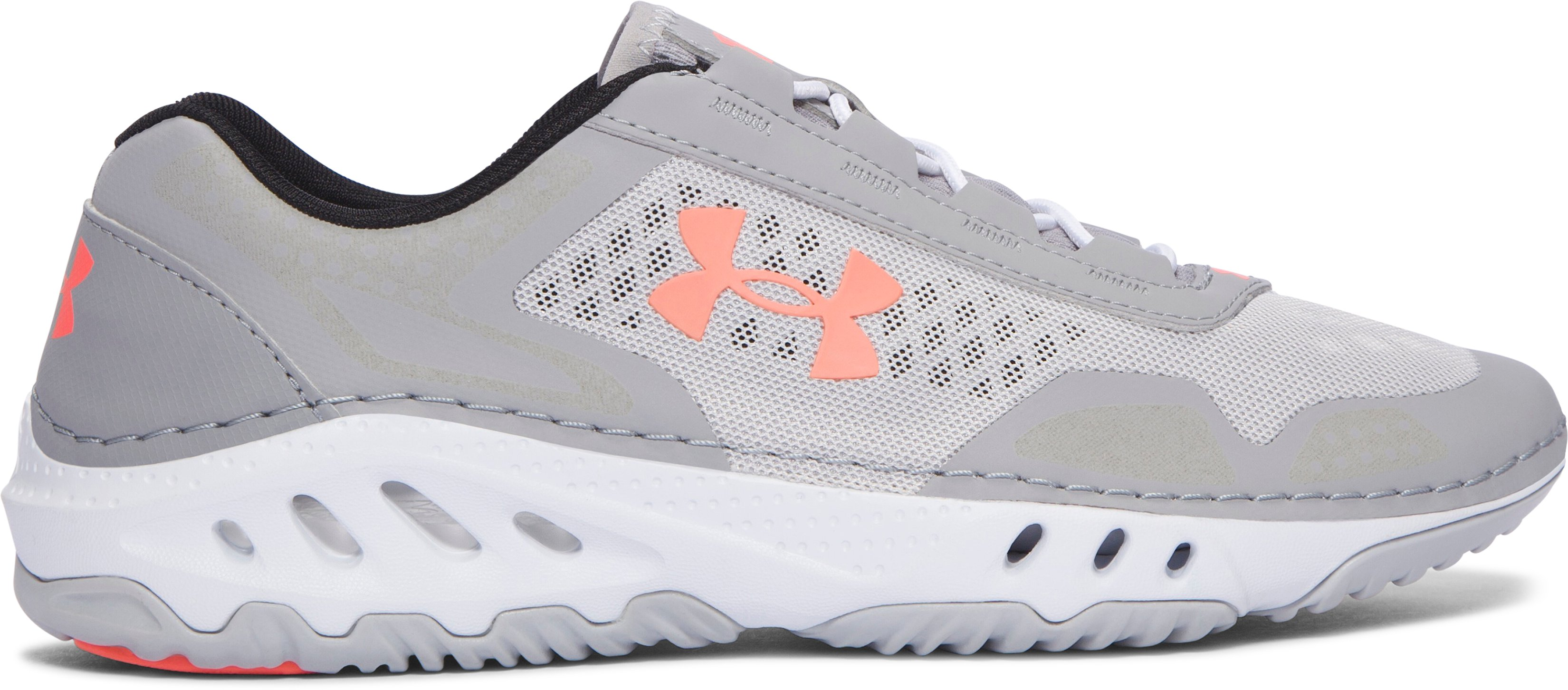 Women's UA Drainster Shoes, GRAY WOLF,