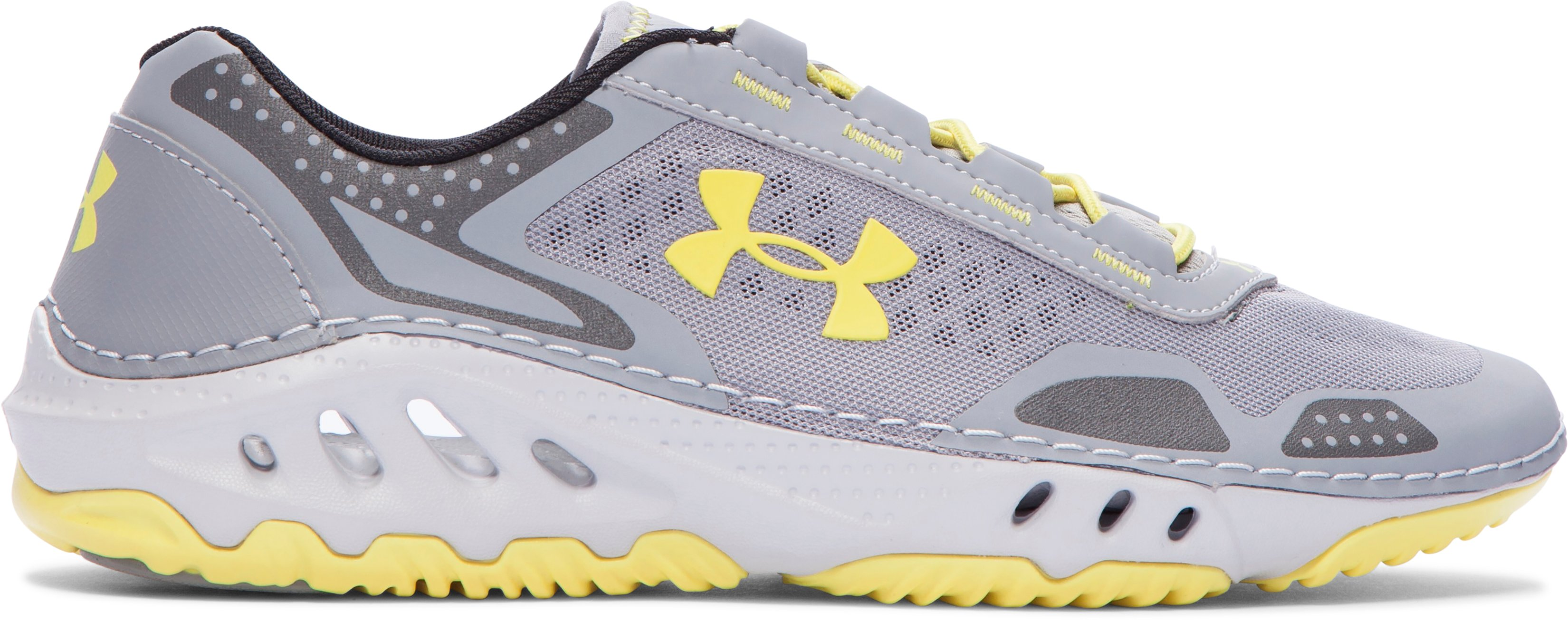 Women's UA Drainster Shoes, Steel, undefined