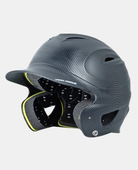 Kids' UA Matte Black Carbon Tech Batting Helmet