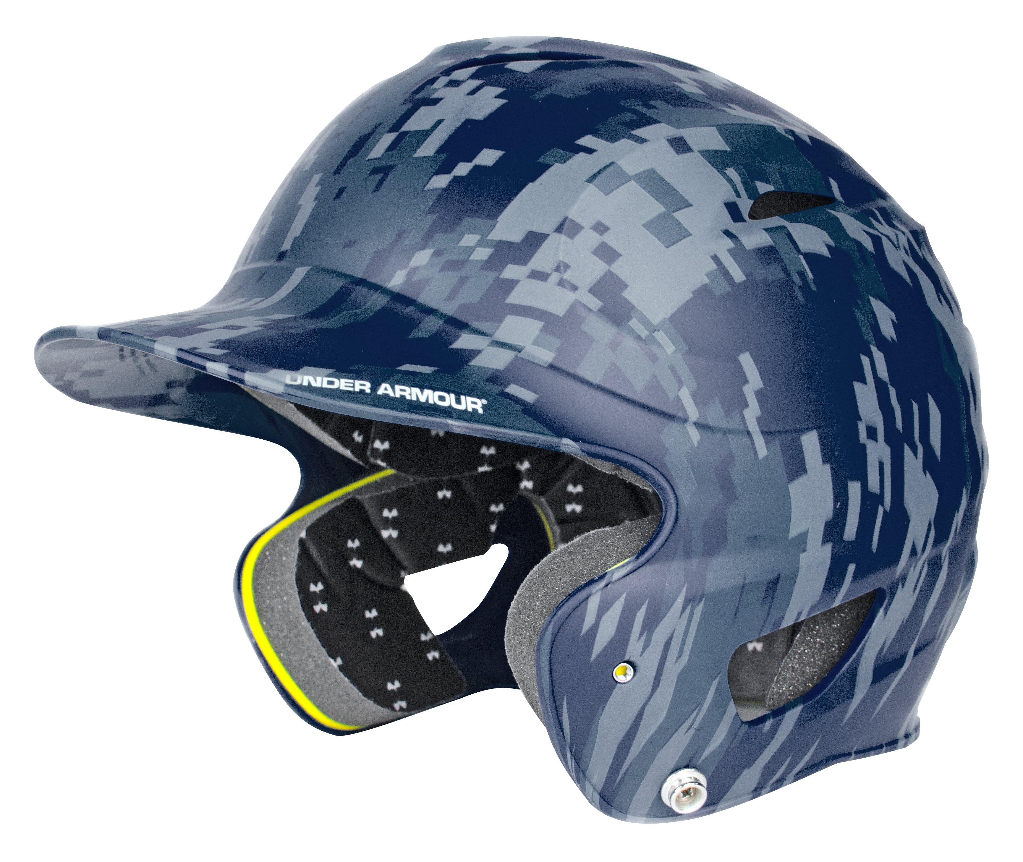 UA Digital Camo Batting Helmet, Midnight Navy