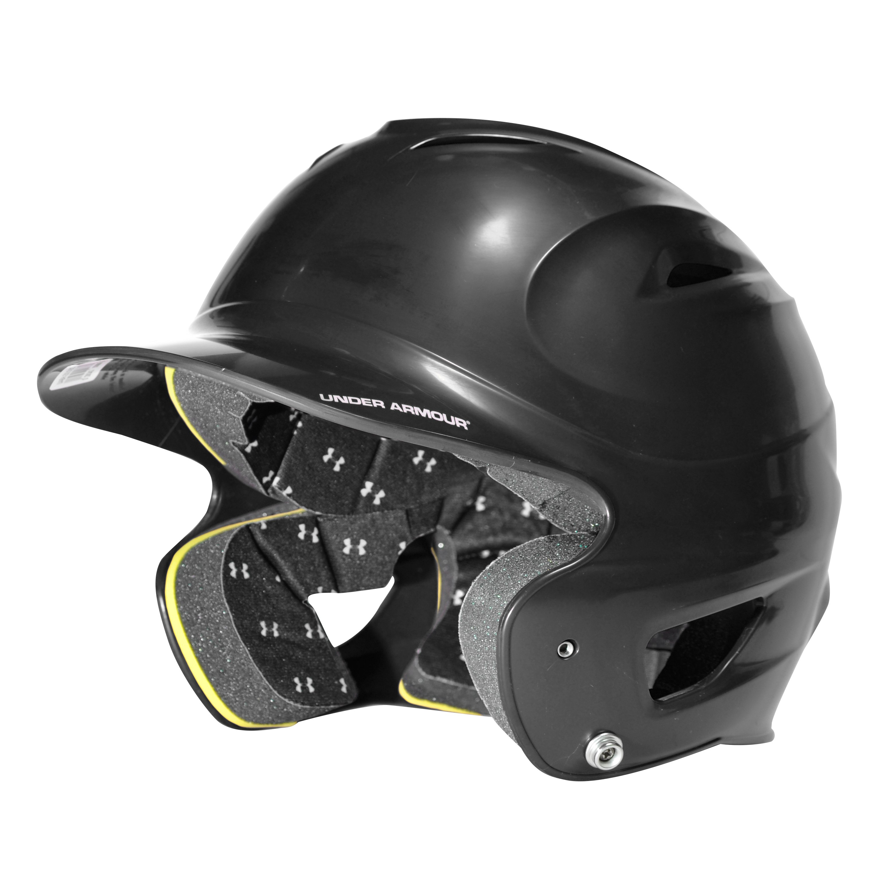 UA Solid Batting Helmet, Black , undefined