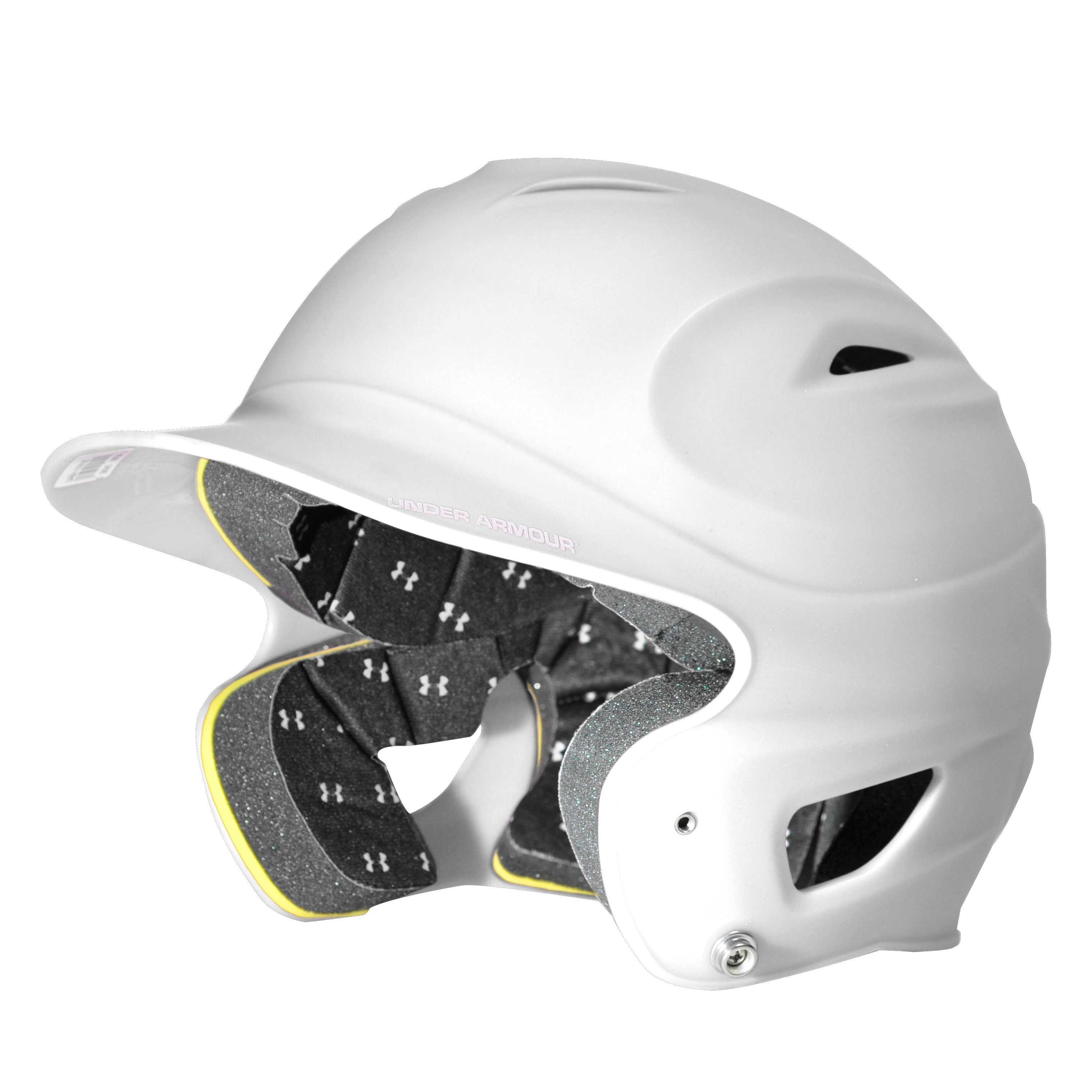 Kids' UA Solid Batting Helmet, White