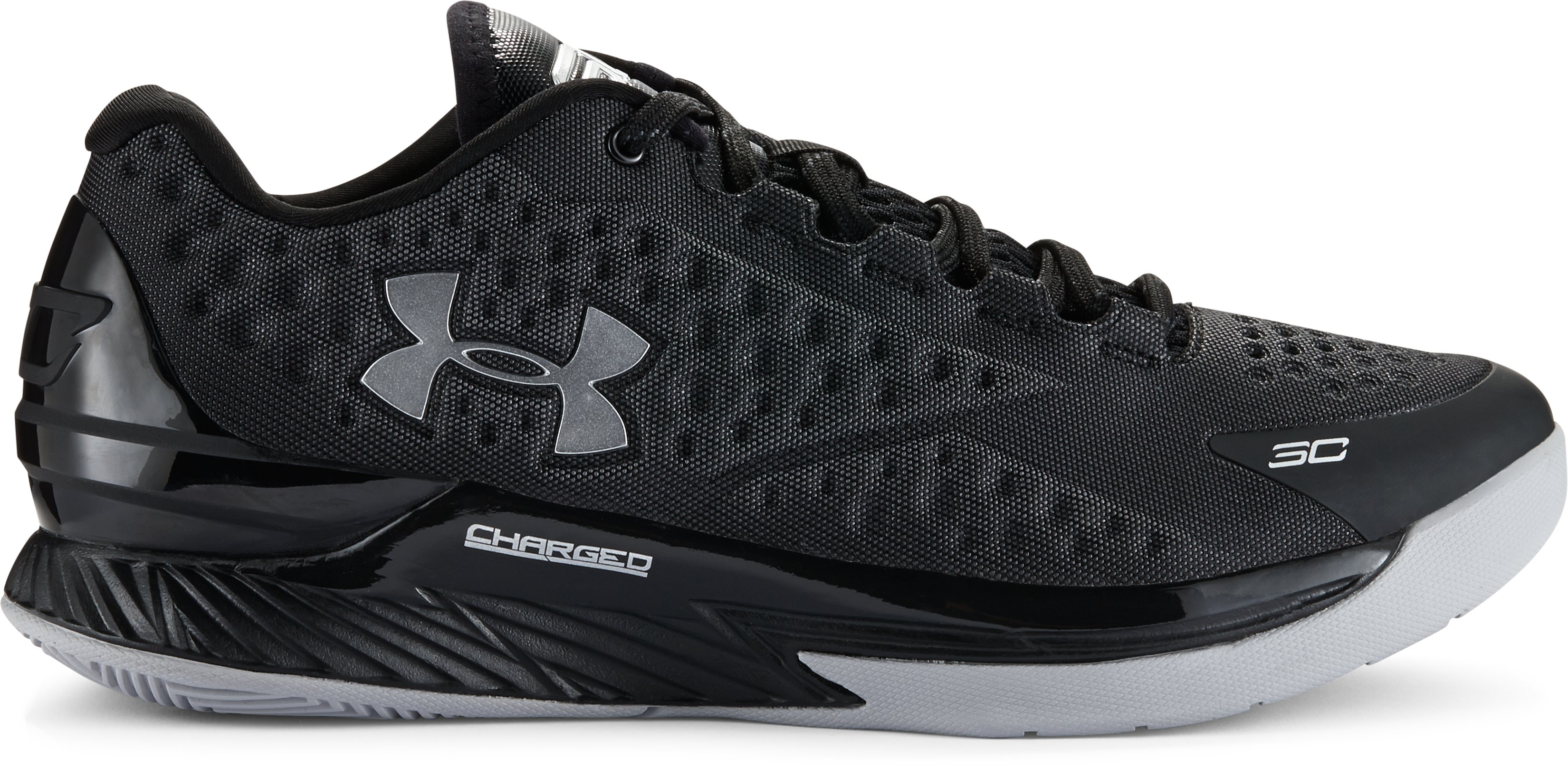 Men's UA Curry One Low Basketball Shoes, Black , zoomed image