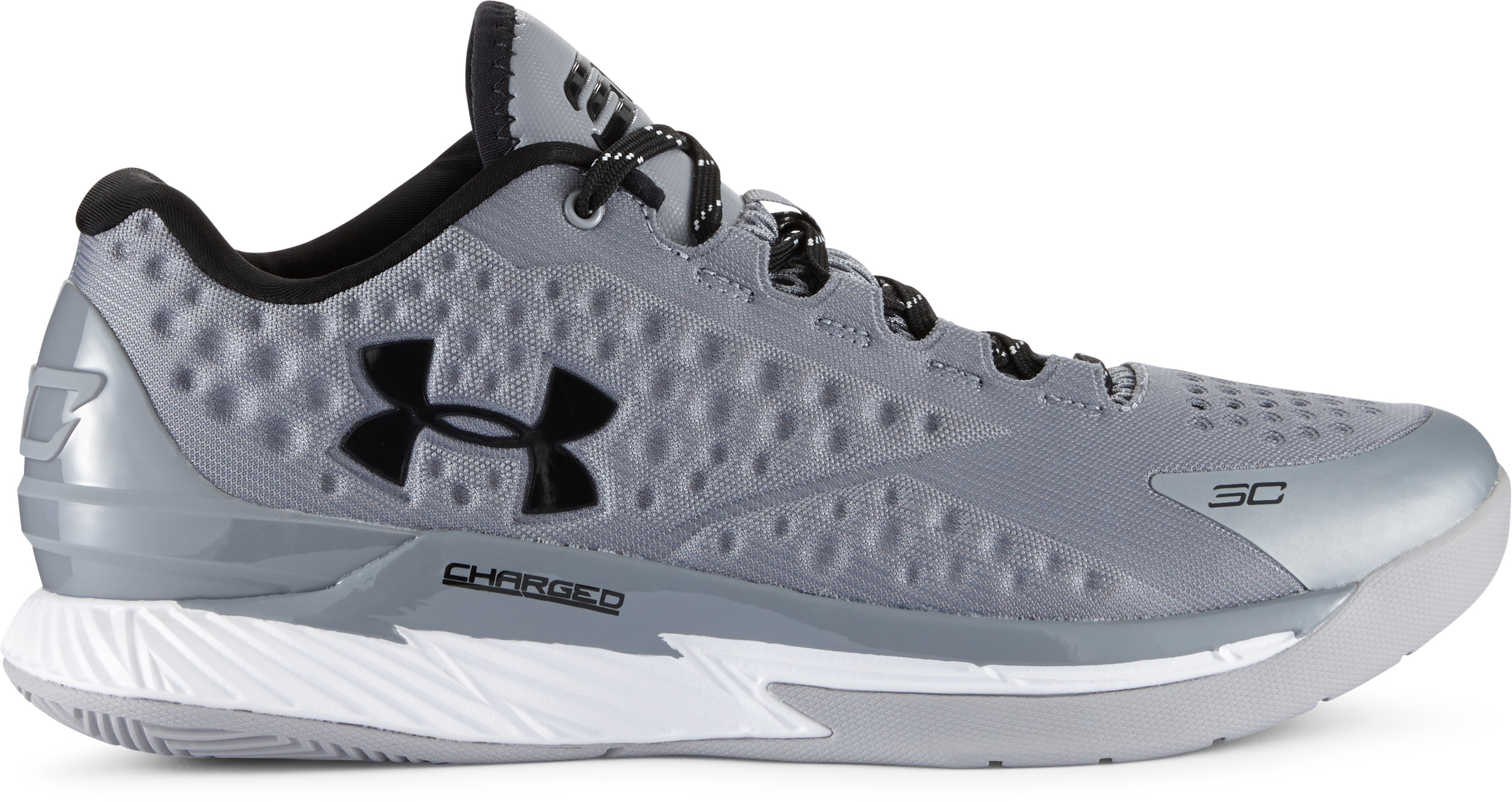 Men's UA Curry One Low Basketball Shoes, Graphite, undefined